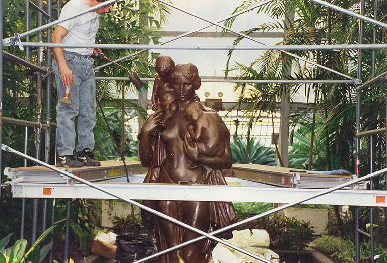 Conservation of the Charitas sculpture.