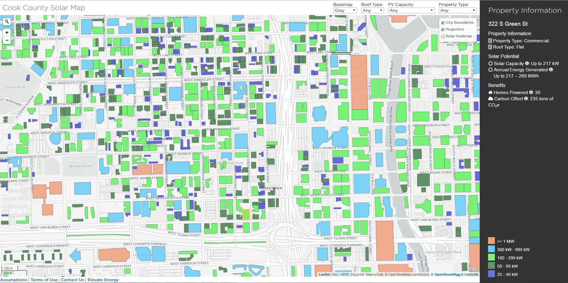 Cook County Solar Map (Elevate Energy)
