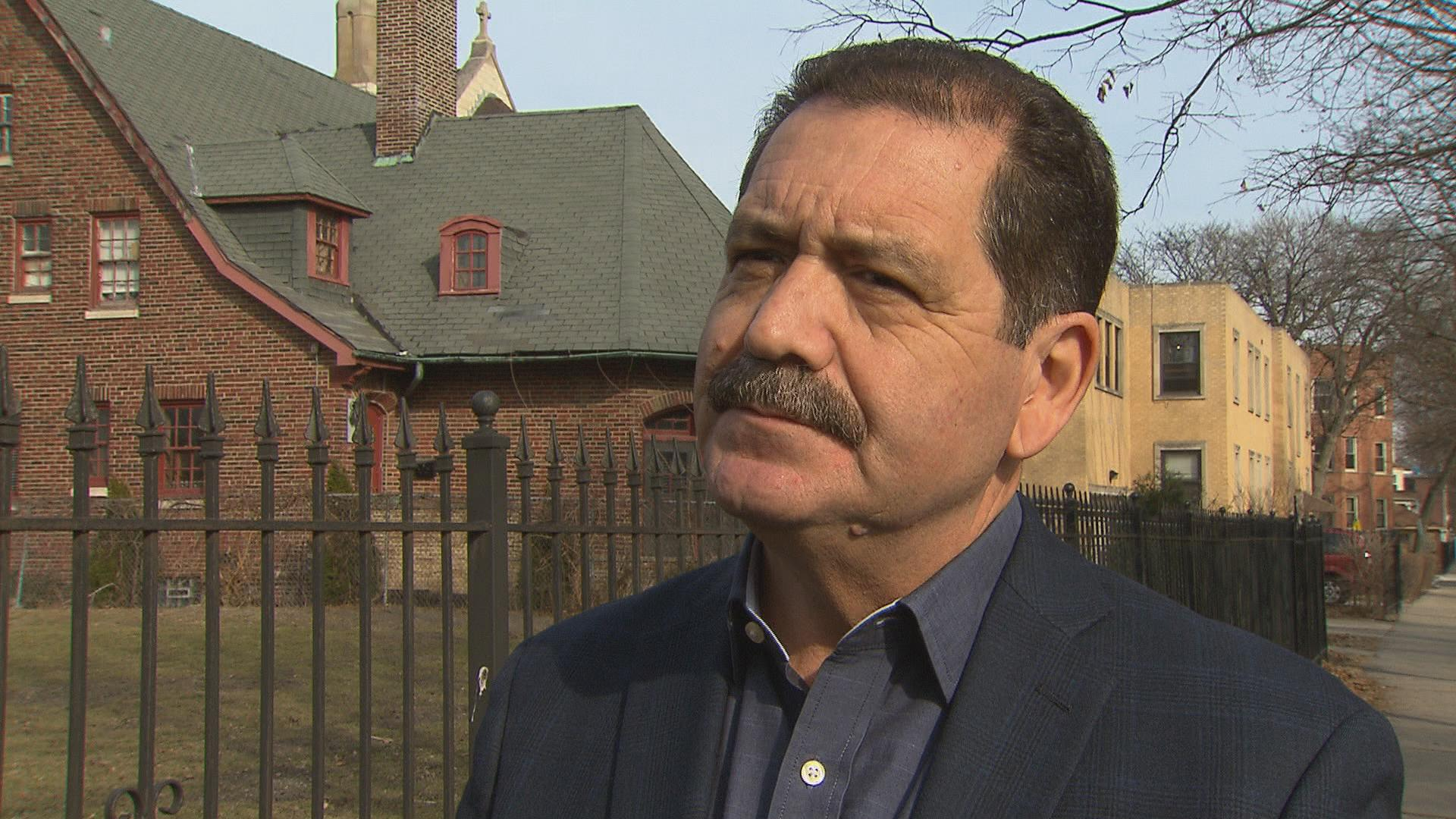 "Cook County Commissioner Jesus ""Chuy"" Garcia (D-Chicago) speaks with ""Chicago Tonight"" in February 2017."