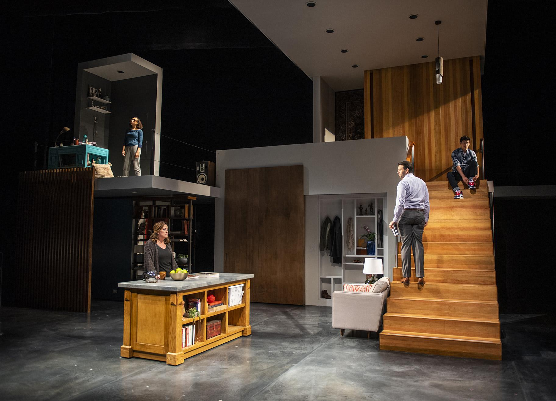 "From left: Kyrie Courter, Keely Vasquez, David Schlumpf and Liam Oh  in ""Next to Normal"" at Writers Theatre. (Photo credit: Michael Brosilow)"