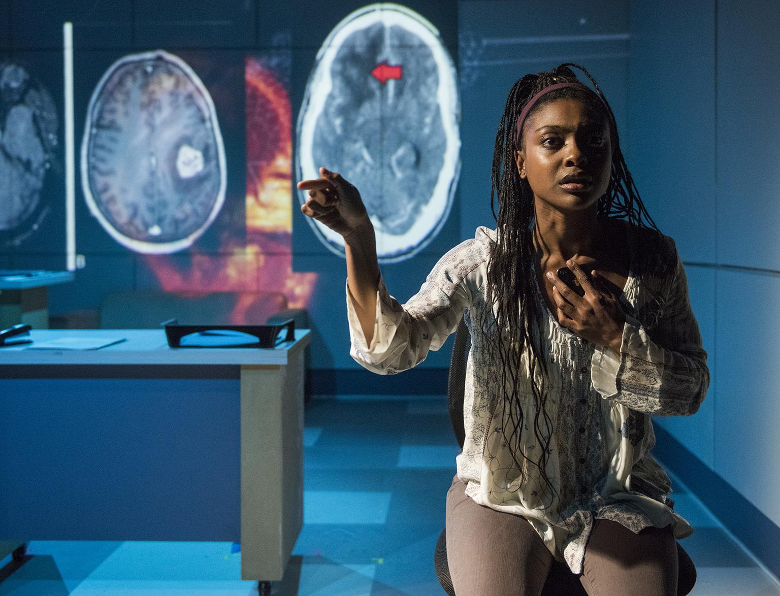 "Courtney Williams in ""Scientific Method."" (Photo credit: Michael Brosilow)"