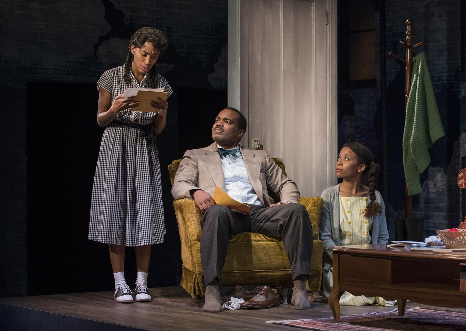 "From left: Chanell Bell, Terence Sims and Brandi Jiminez Lee in ""Crumbs from the Table of Joy."" (Photo by Michael Brosilow)"