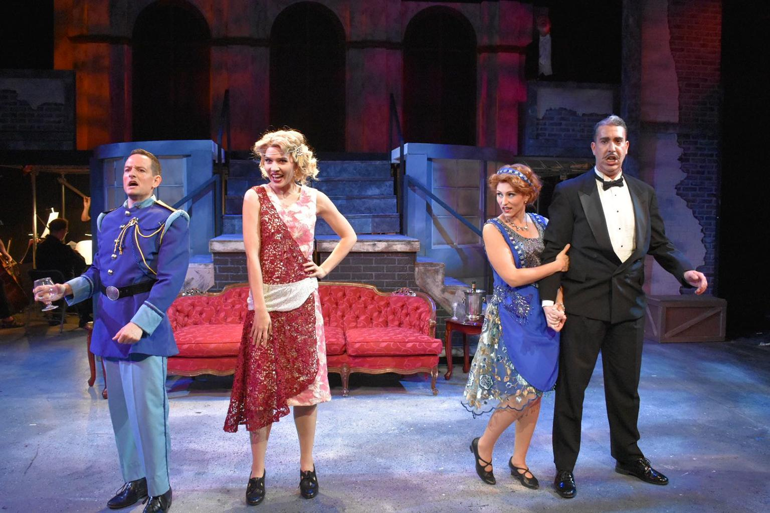 "Jonathan Zeng, Emma Sorenson, Katherine Petersen and William Roberts in ""The Csardas Princess."""