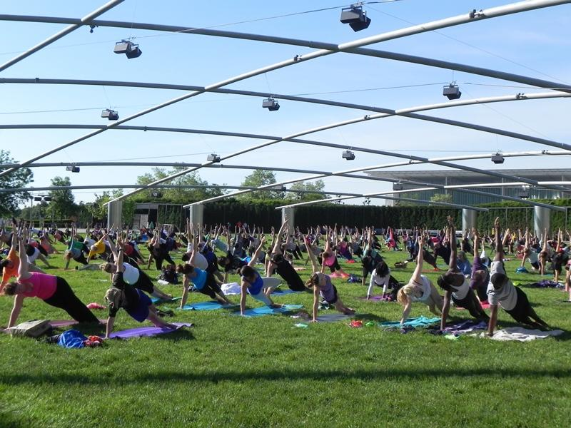 In addition to Saturday classes, yoga is offered on Wednesdays at 7:30 a.m. (Courtesy of the city of Chicago Department of Cultural Affairs and Special Events)