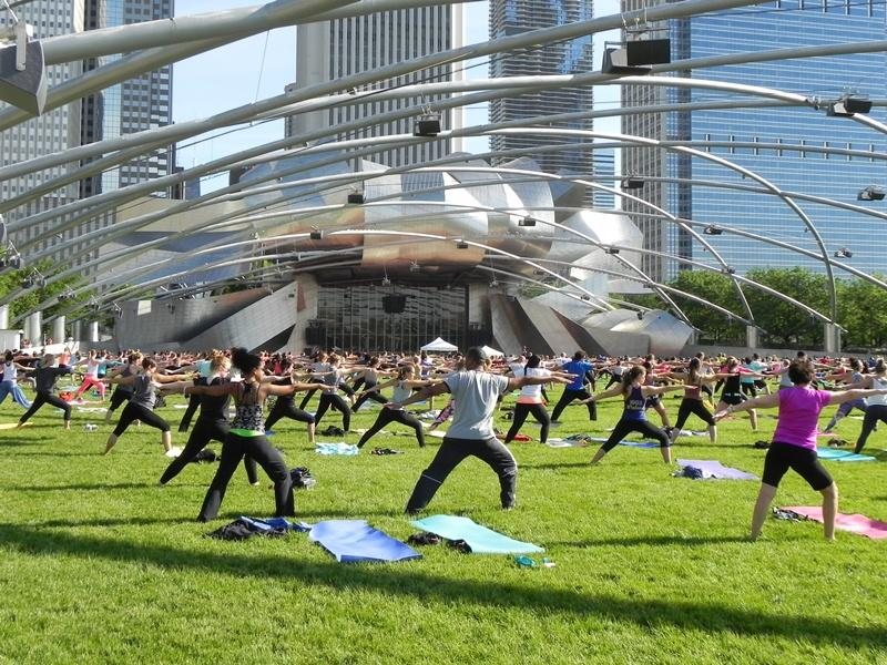 Free summer workout classes return to Millennium Park starting June 1. (Courtesy of the city of Chicago Department of Cultural Affairs and Special Events)