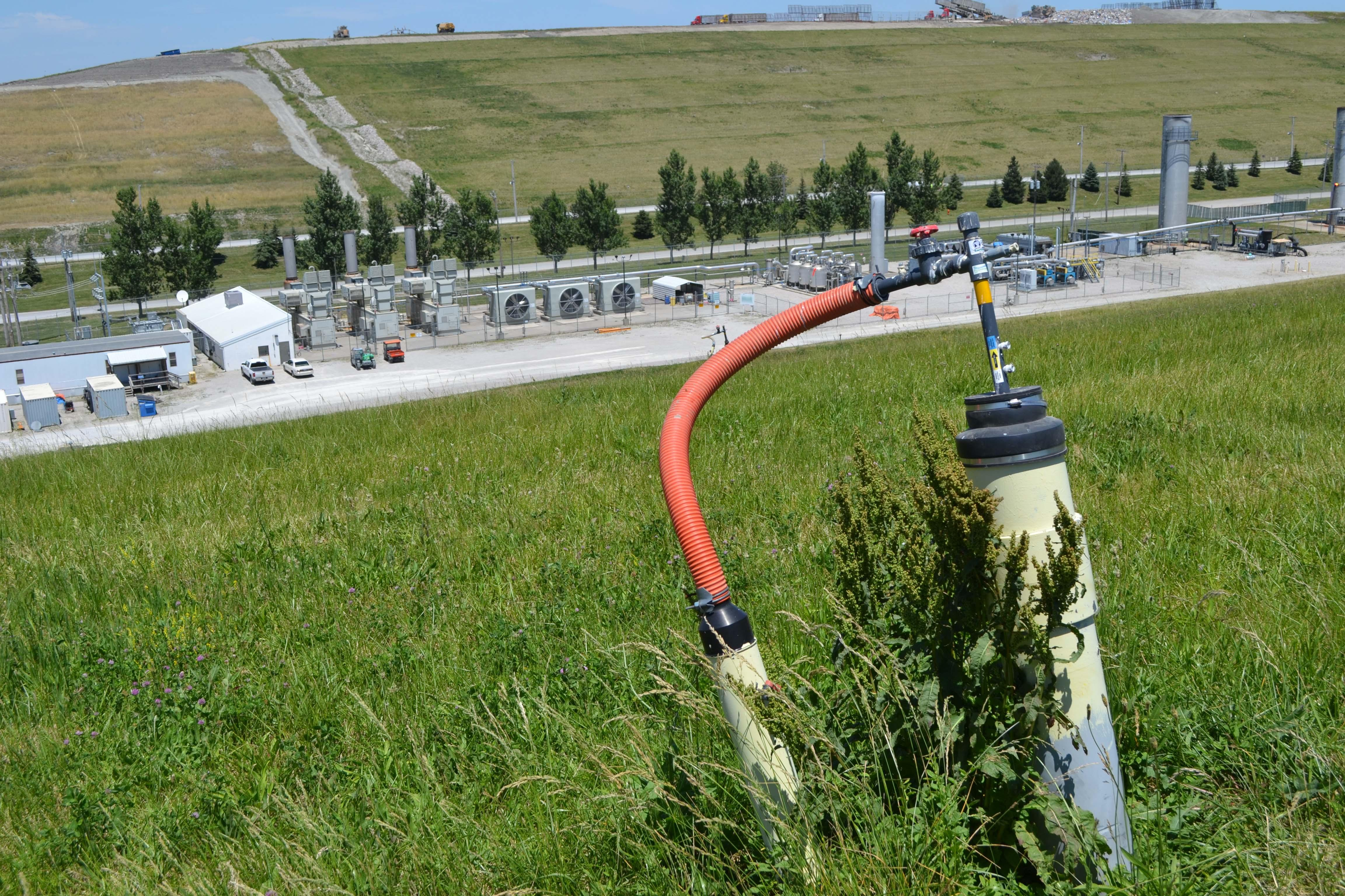 Many modern landfills employ an elaborate network of pipes and vacuums to capture greenhouse gases.