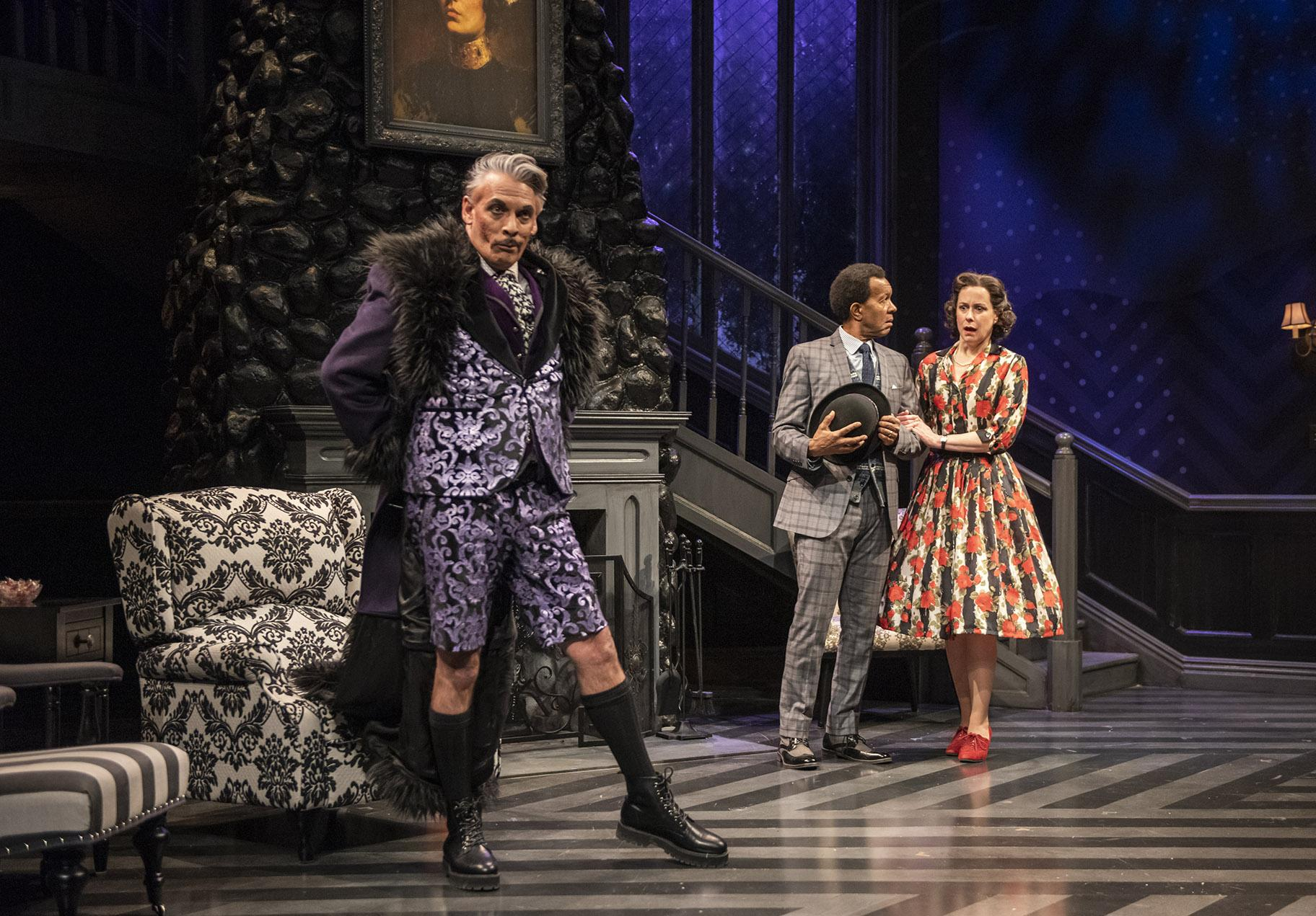 "From left: David Cerda, Allen Gilmore and Kate Fry in ""The Mousetrap."" (Photo by Michael Brosilow)"