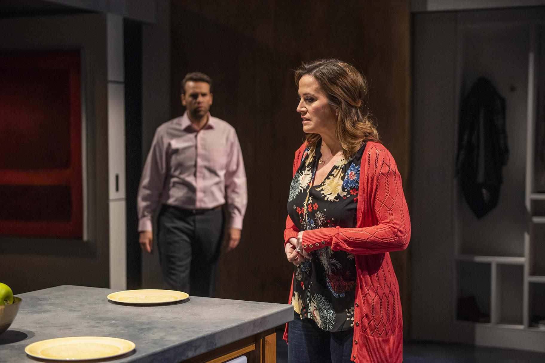 "David Schlumpf and Keely Vasquez in ""Next to Normal."" (Photo credit: Michael Brosilow)"