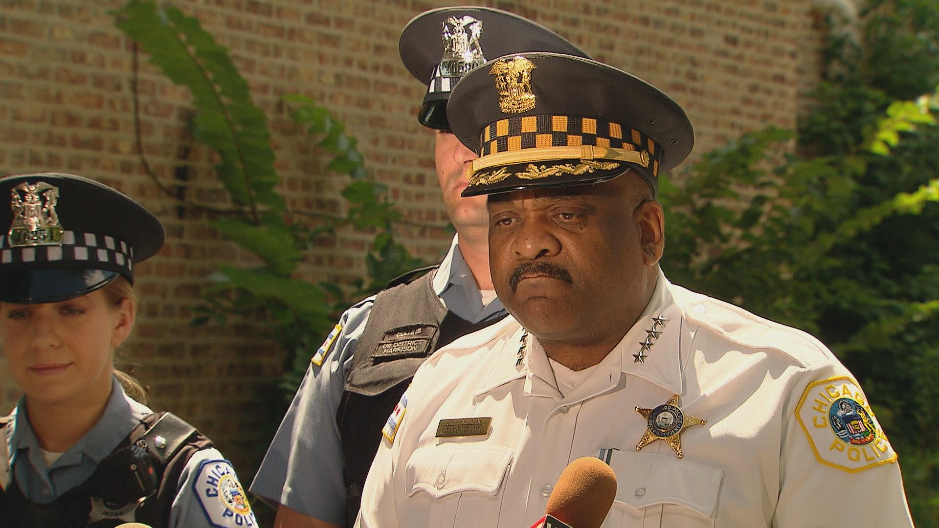 Chicago Police Superintendent Eddie Johnson at a press conference Monday.