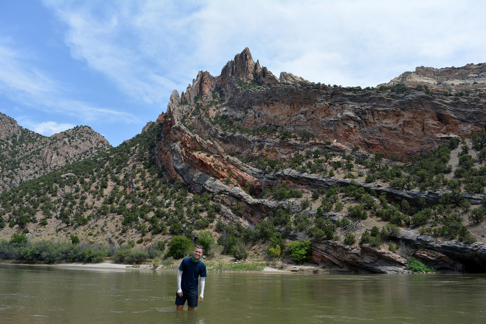 Mikah Meyer visits Dinosaur National Monument (Courtesy of Mikah Meyer)