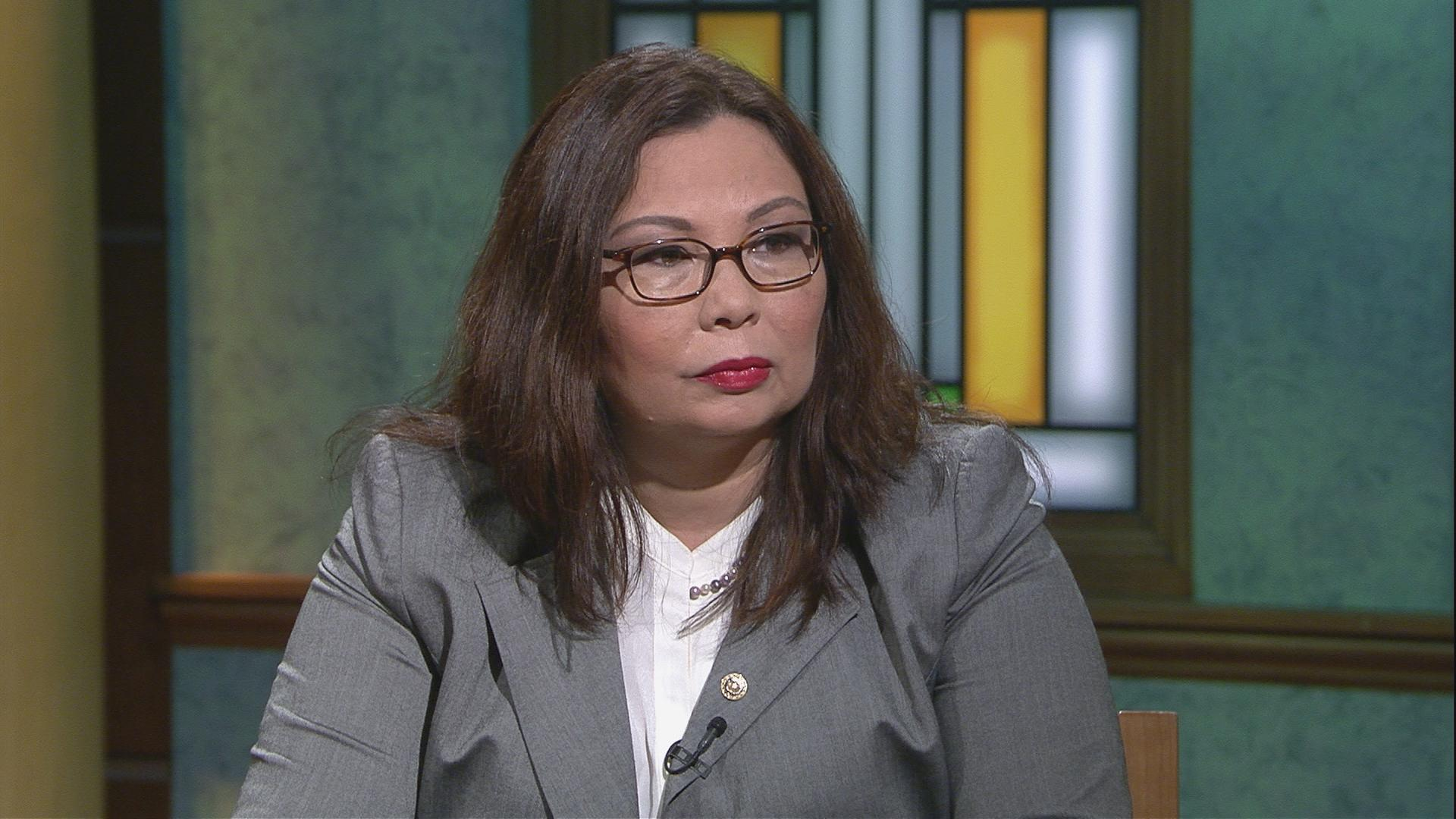 "U.S. Sen. Tammy Duckworth appears on ""Chicago Tonight"" on July 6, 2017."