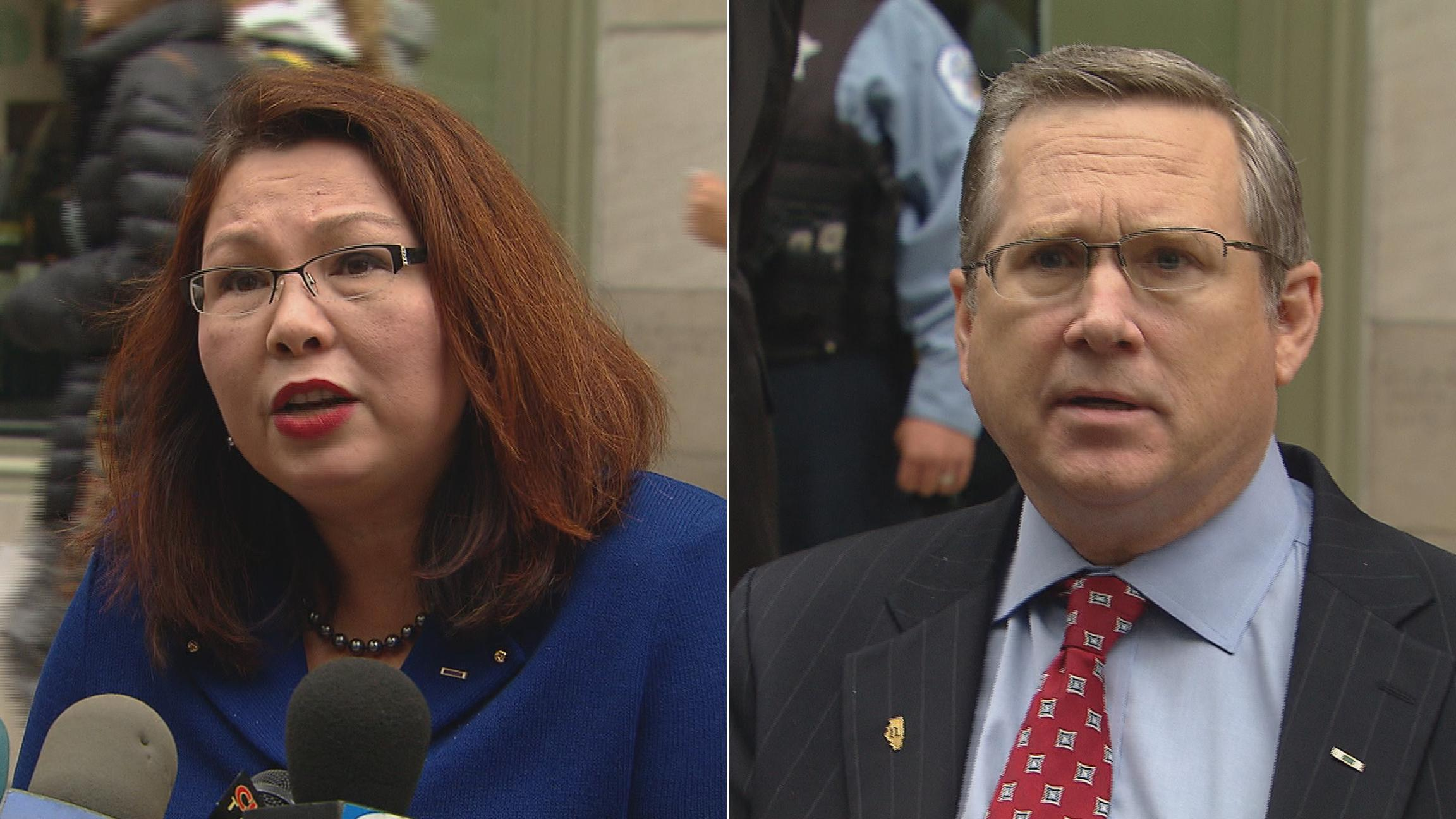 Duckworth, Kirk to face off in 1st meeting of US Senate race
