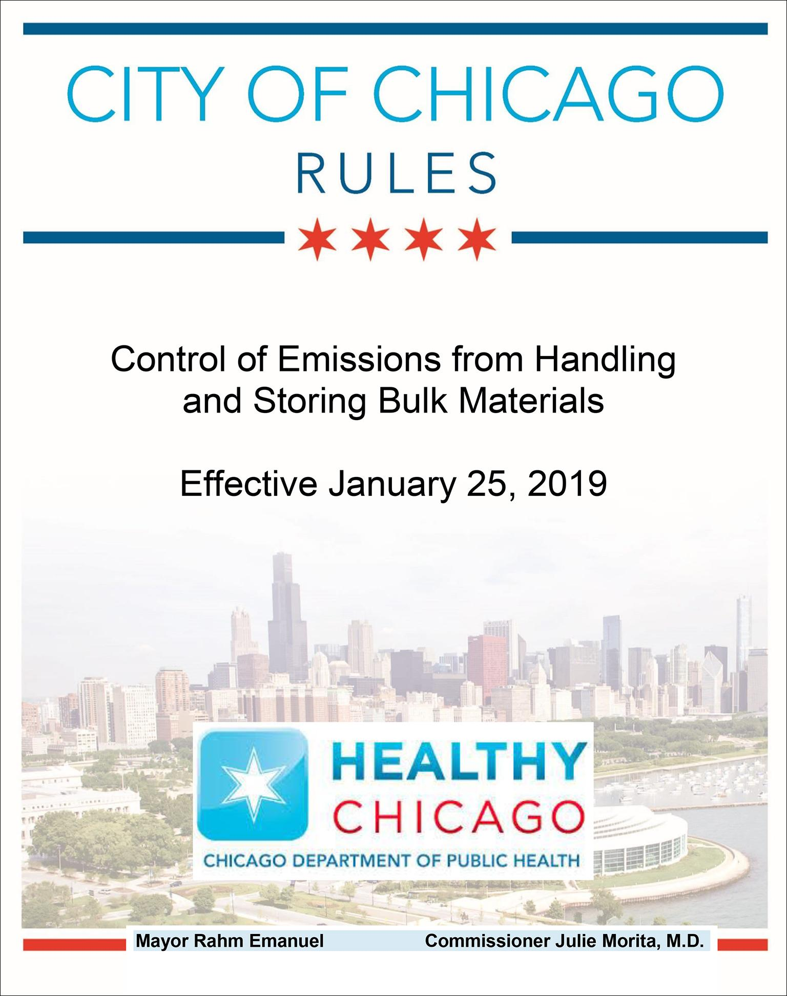 Document: Rules for controlling emissions from handling and storing bulk materials (Chicago Department of Public Health)