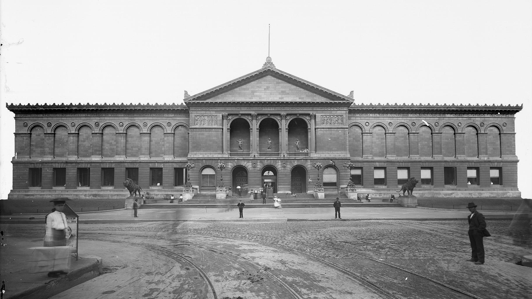 Early days at the Art Institute of Chicago (Courtesy Chicago History Museum)