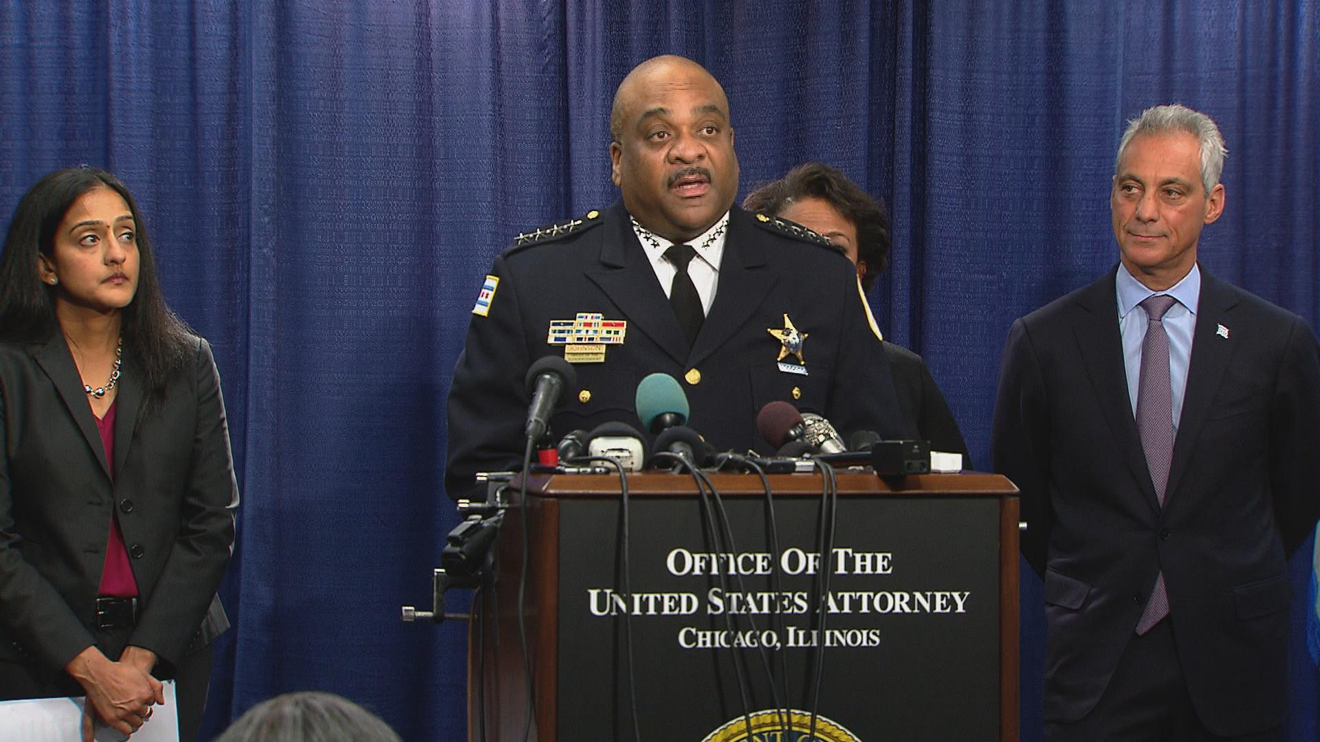 Chicago Police Superintendent Eddie Johnson (Chicago Tonight)
