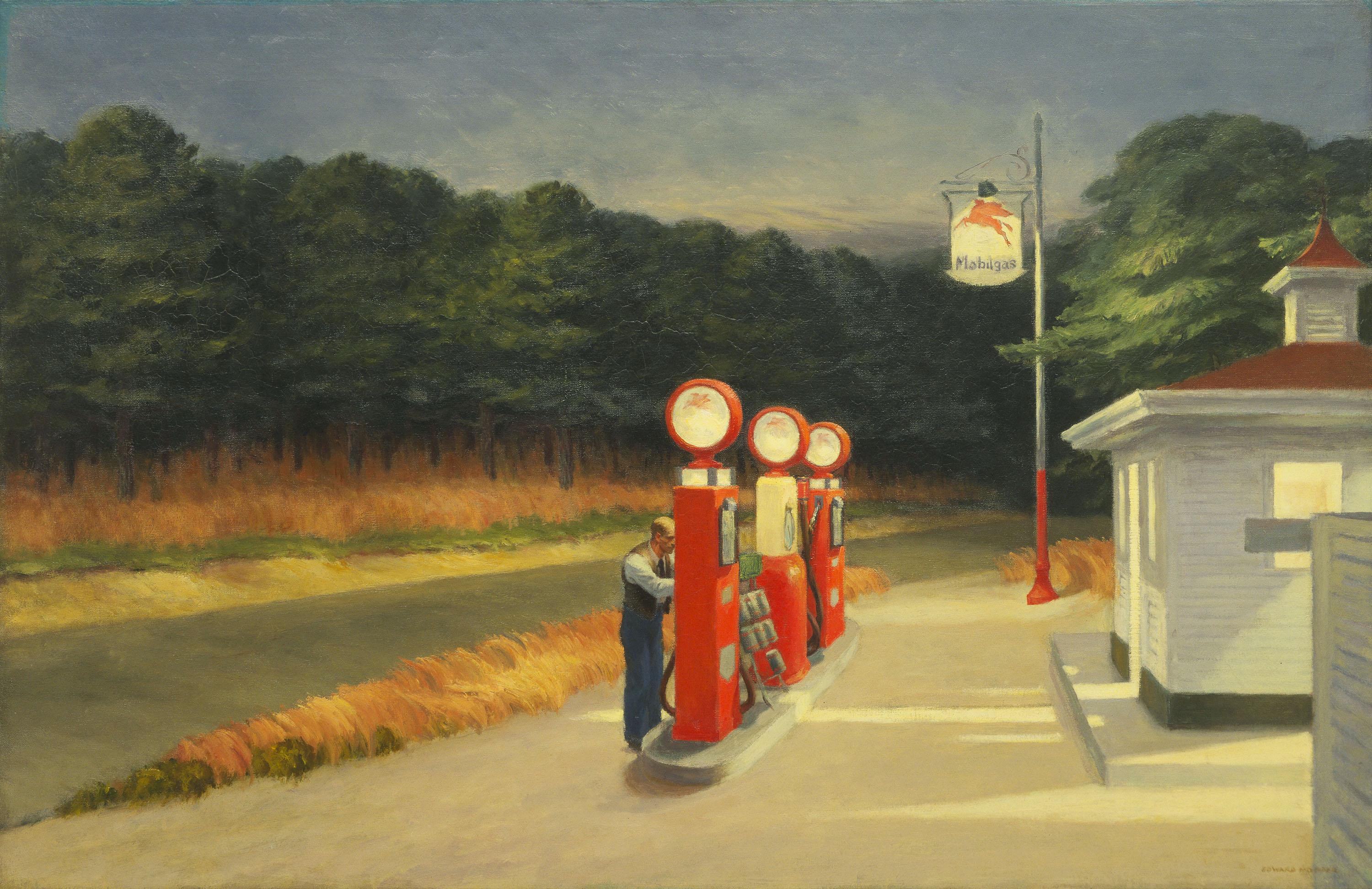 "Edward Hopper, ""Gas,"" 1940. (The Museum of Modern Art, New York, Mrs. Simon Guggenheim Fund, 1943. © The Museum of Modern ArtLicensed by SCALA  Art Resource, NY)"