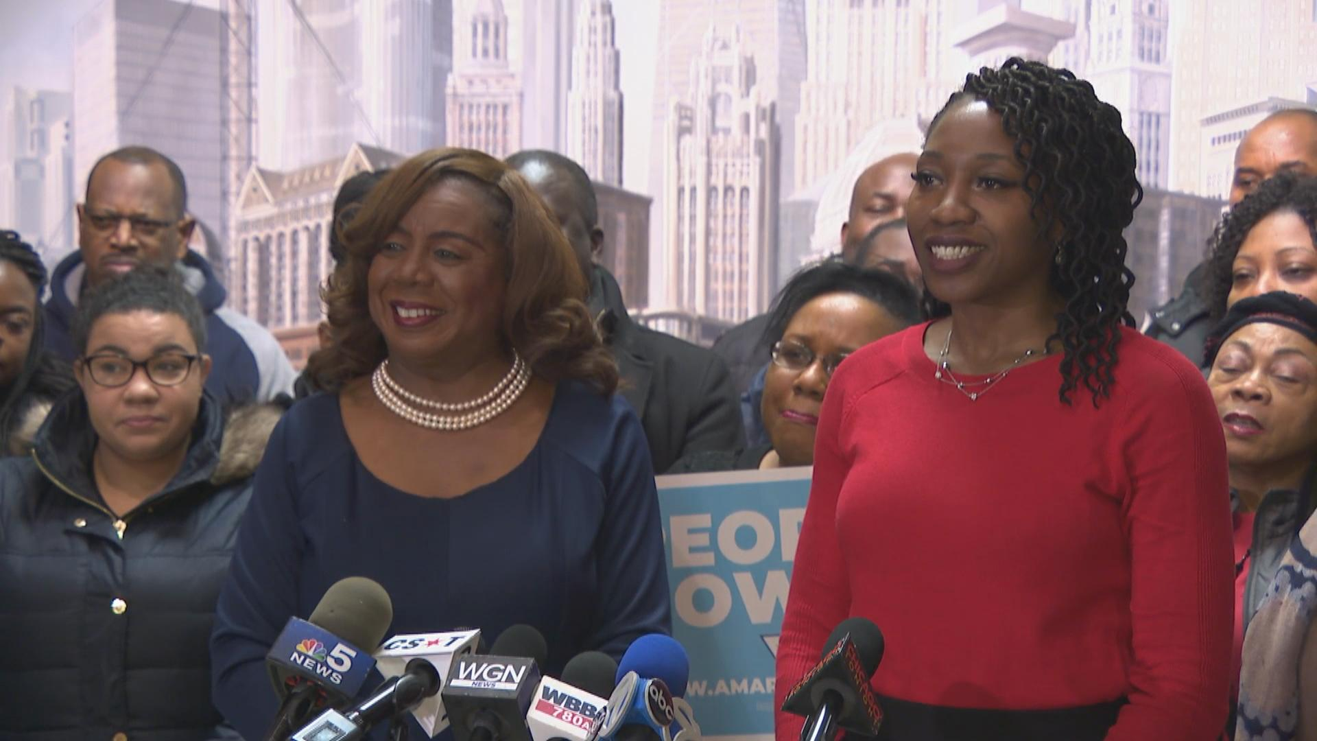 Dorothy Brown Endorses Amara Enyia for Mayor | Chicago News | WTTW