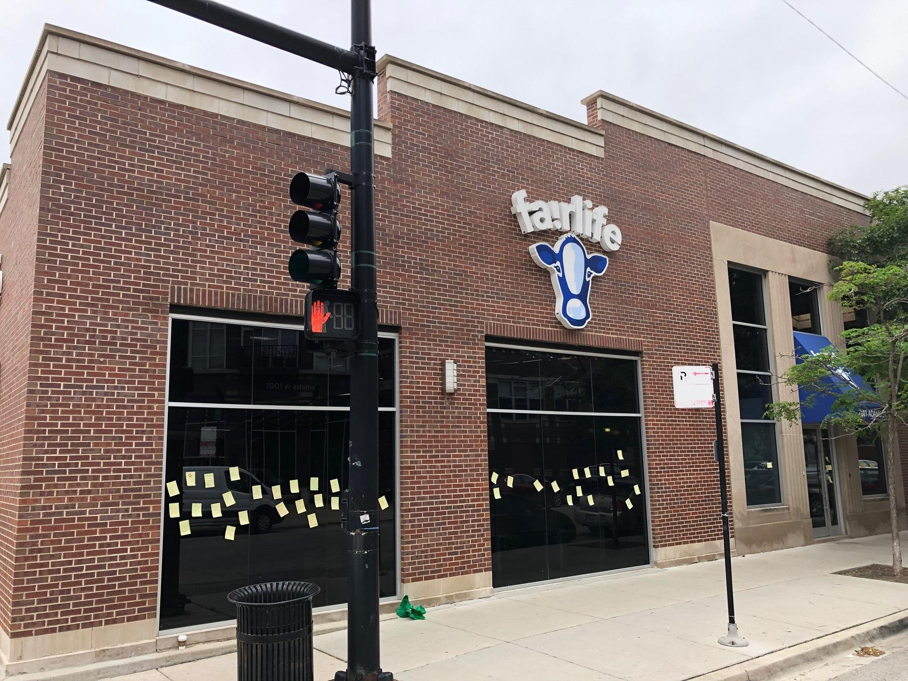 Fairlife's headquarters at 1001 W. Adams St. in Chicago (Alex Ruppenthal / WTTW News)