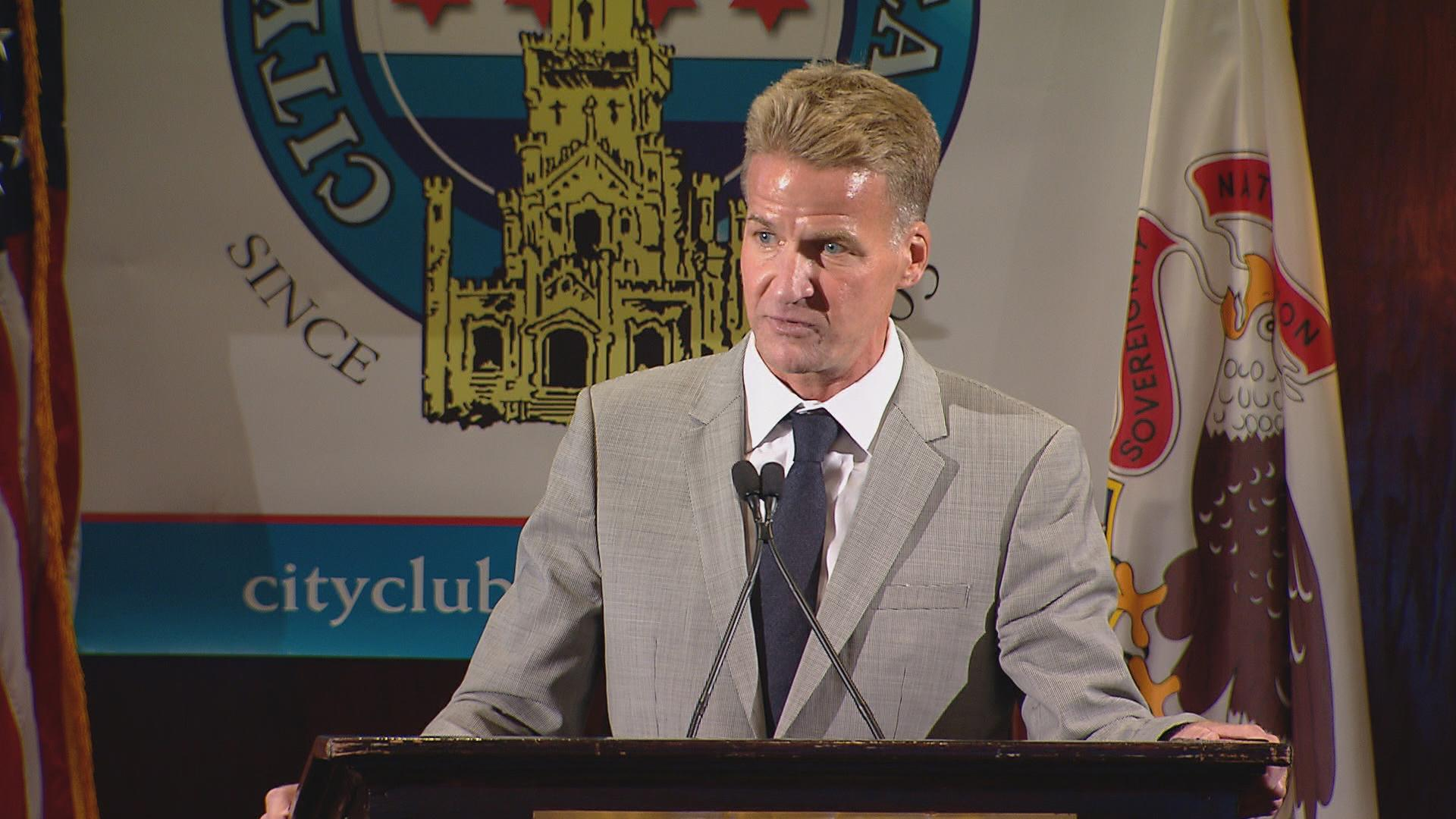 U.S. Attorney Zachary Fardon speaks at the City Club of Chicago on Sept. 26, 2016. (Chicago Tonight)