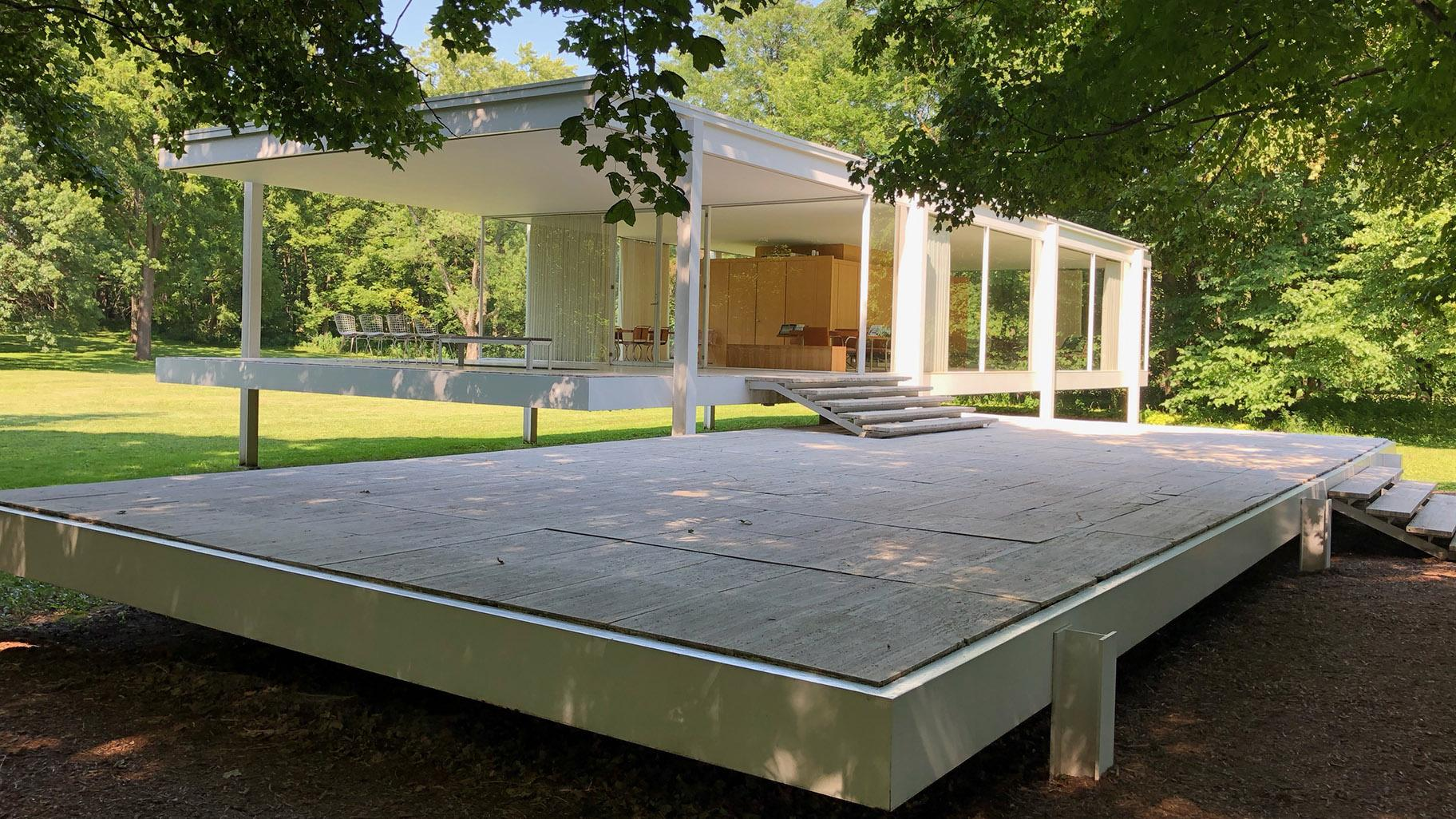 Ludwig Mies van der Rohe's Farnsworth House in Plano, Illinois.