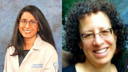 Dr. Ashlesha Patel, left, and Dr. Elizabeth Feldman (Courtesy Cook County Health and Hospitals System)