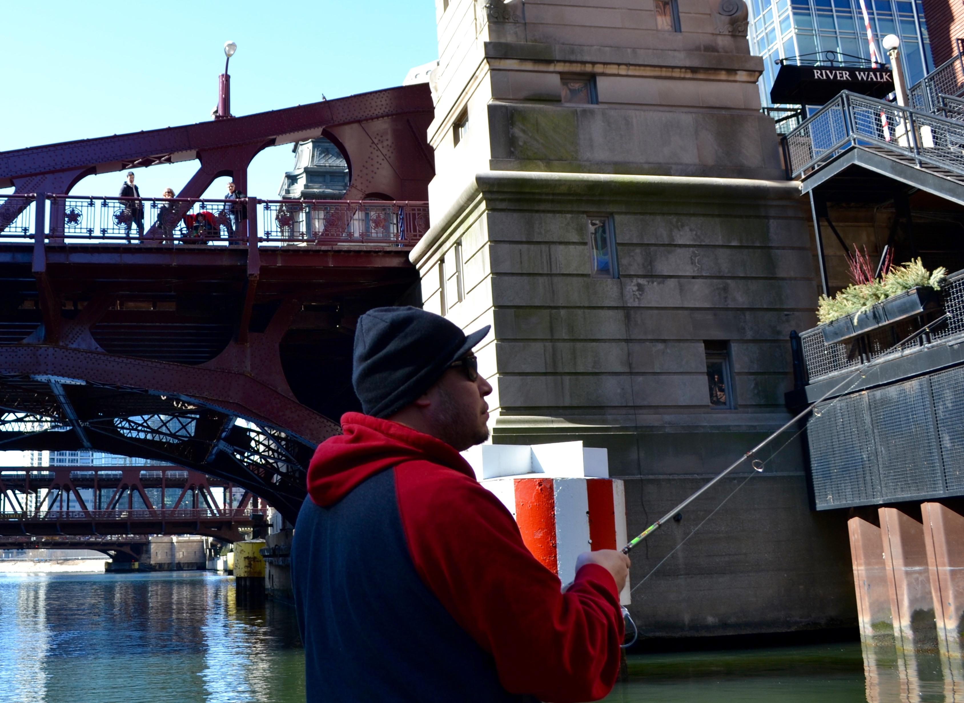 Fishing on the Chicago River | Chicago News | WTTW