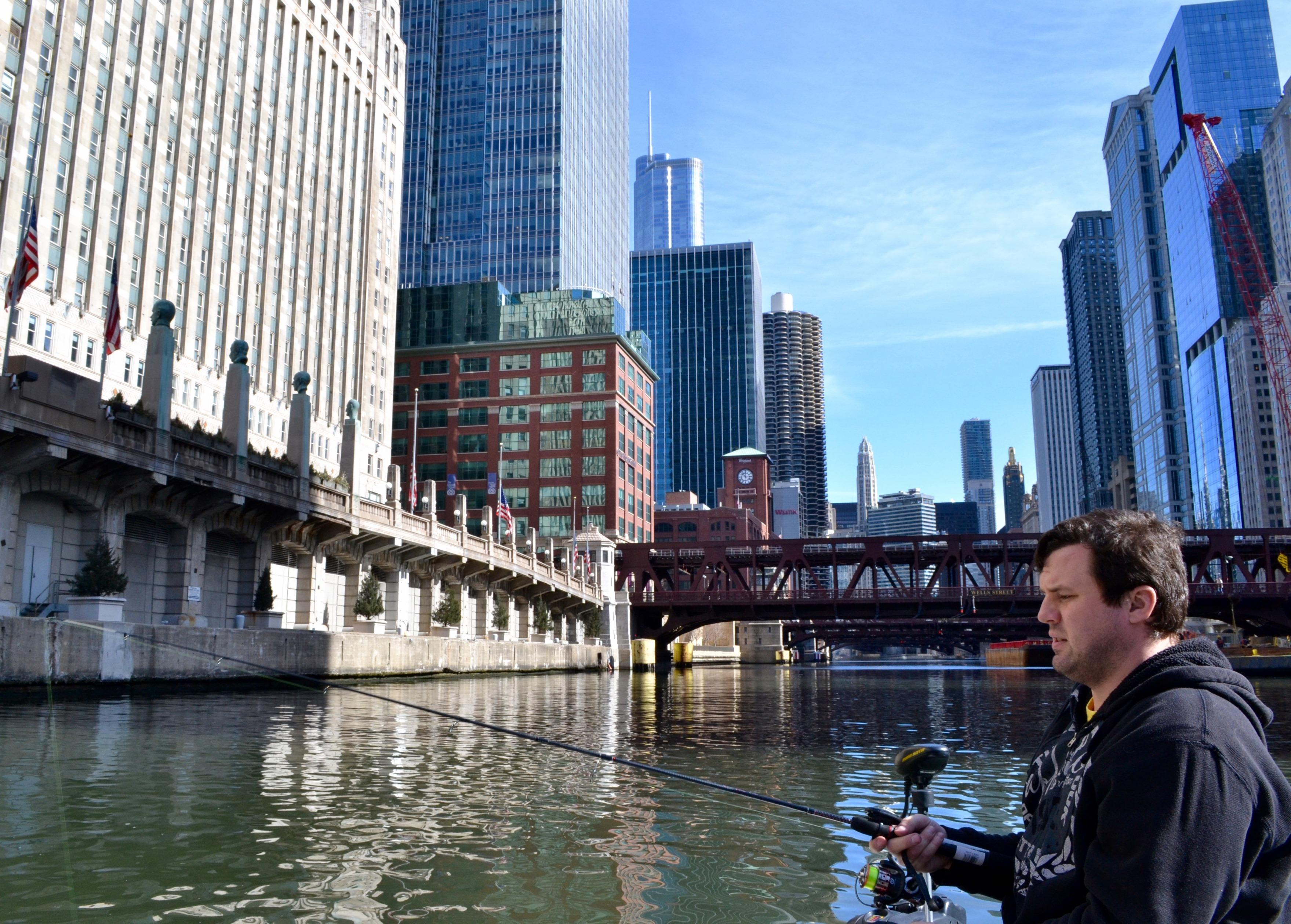 Fishing on the chicago river chicago tonight wttw for Fish on main
