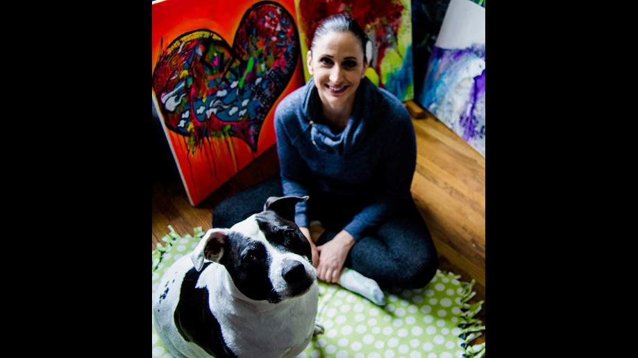Nicole Quattrocki with her pitbull Gigi. (Courtesy Nicole Quattrocki)