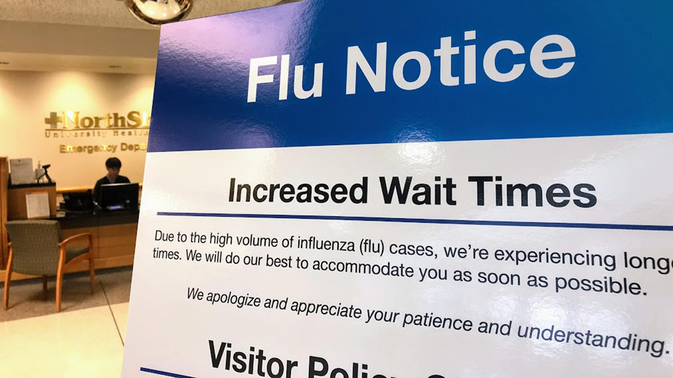 An early flu season in 2018 led to an increased volume of patients at many Chicago-area hospitals. (Brandis Friedman / WTTW News)