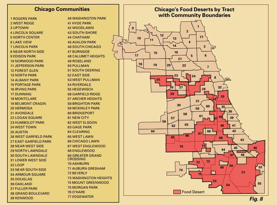 A 2006 report documented food deserts in Chicago. (Mari Gallagher Research & Consulting Group / Illinois Department of Agriculture)