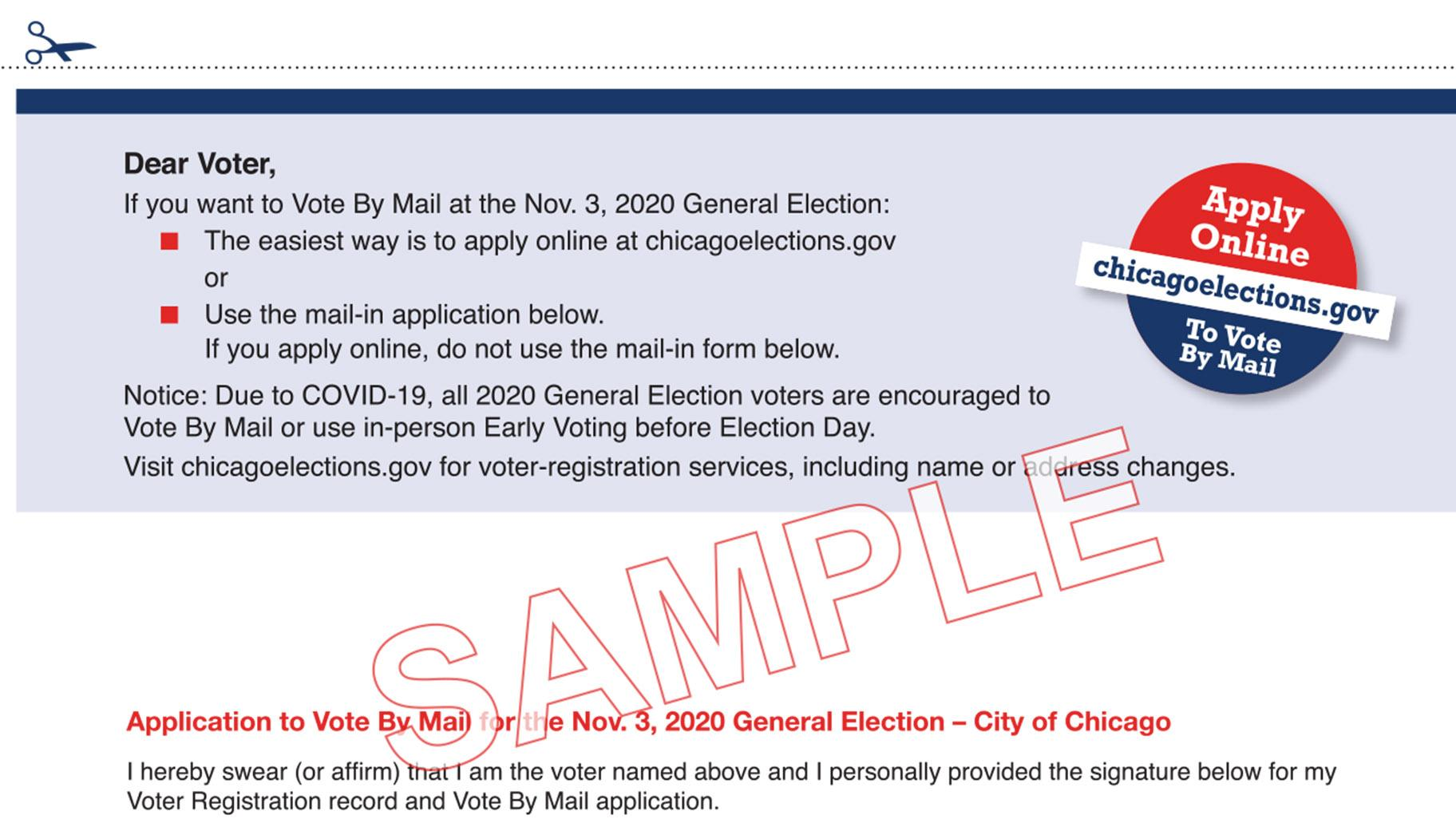 A vote-by-mail sample application. (Click to view full document.)