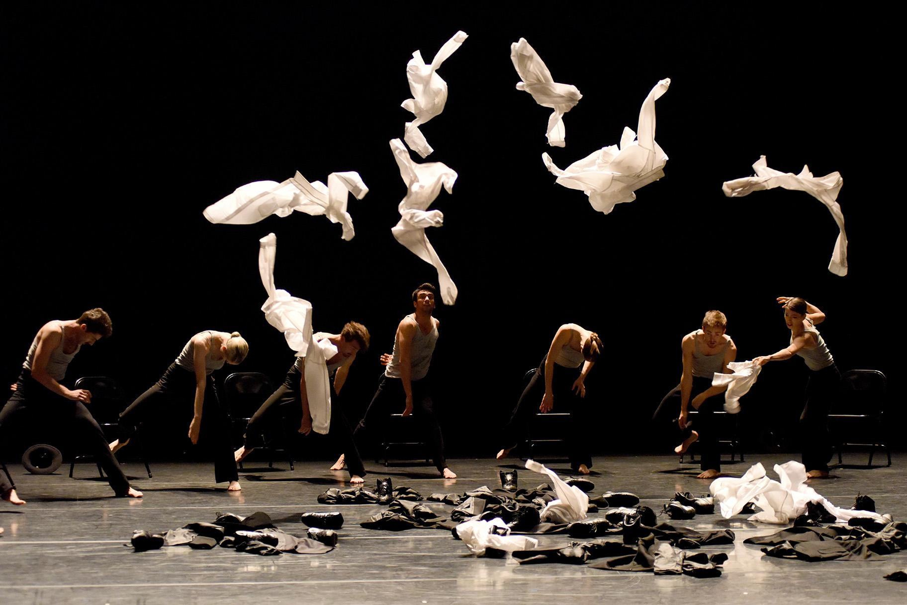 "Gauthier Dance in Ohad Naharin's ""Minus 16."" (Photo courtesy of Gauthier Dance)."