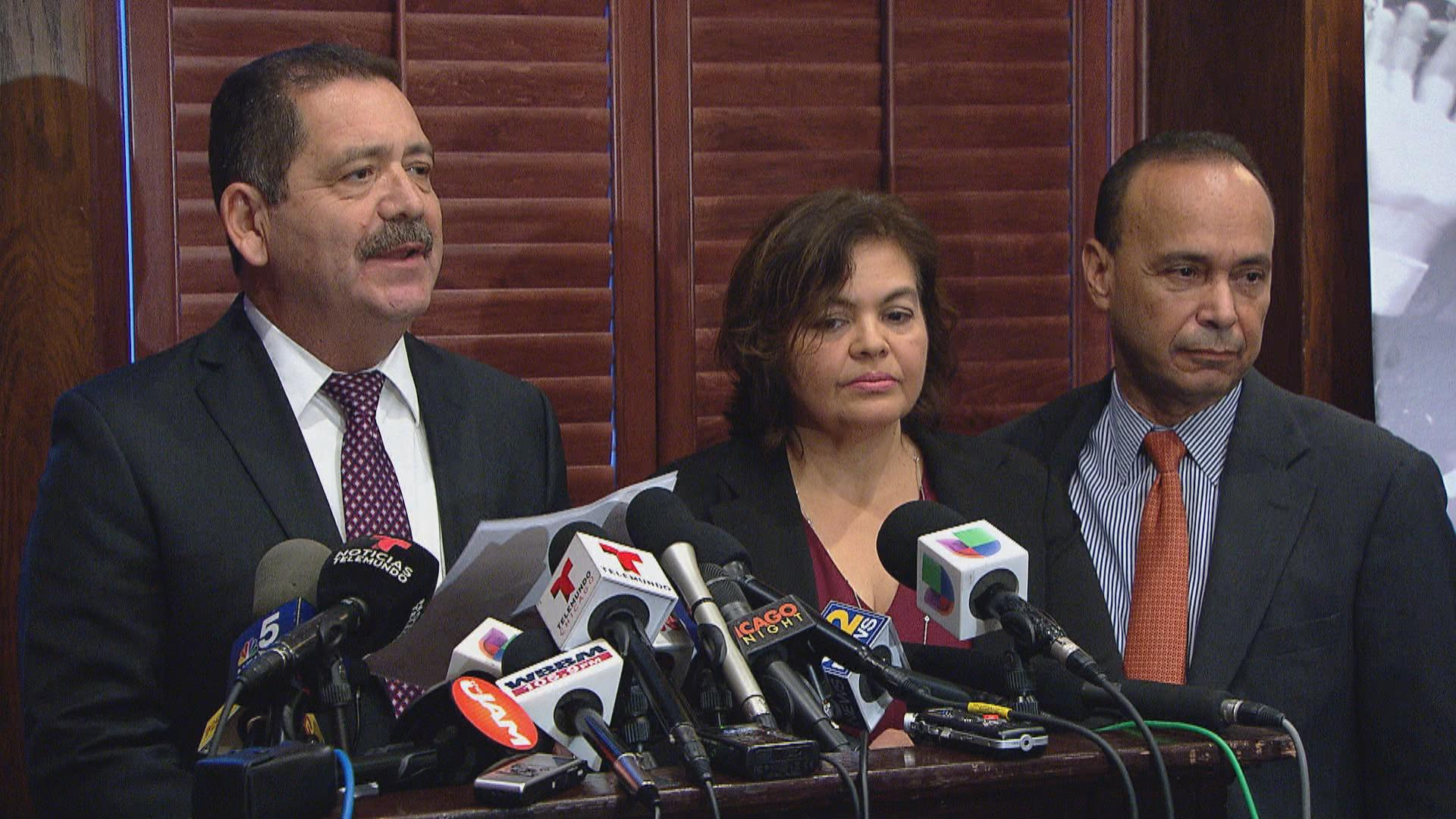"Cook County Commissioner Jesus ""Chuy"" Garcia speaks on Tuesday, Nov. 28."