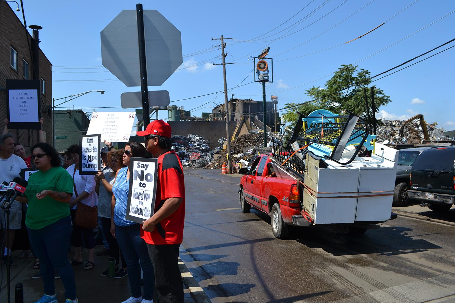 We Don't Want Your Trash': Residents Protest General Iron's