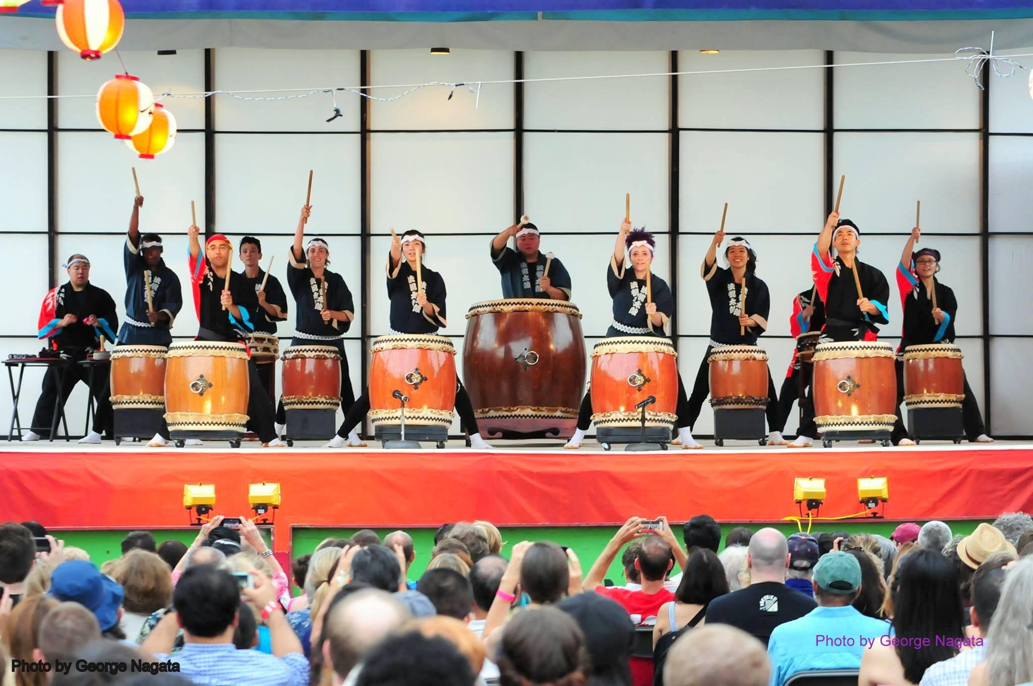 Taiko drummers perform this weekend at the annual Ginza Holiday Festival. (Courtesy Ginza Holiday Festival)