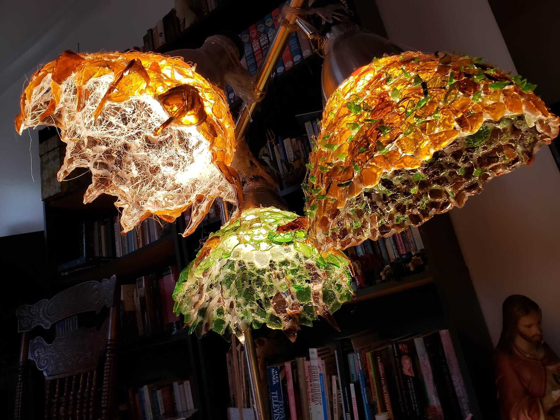 Sea glass LED lamp. (Courtesy of Zac Lowing)