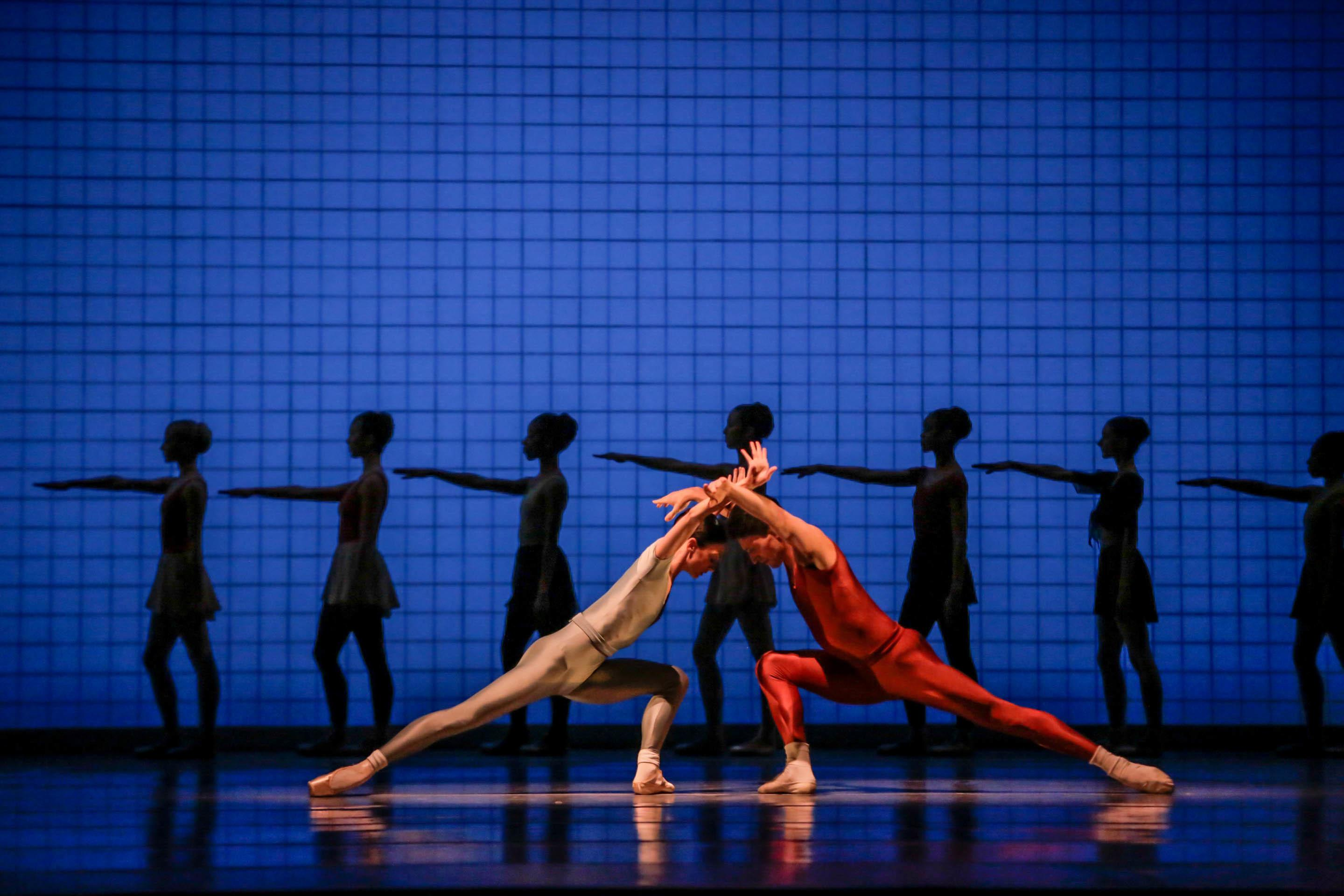 "The Joffrey Ballet performs ""Glass Pieces."" (Photo by Cheryl Mann)"