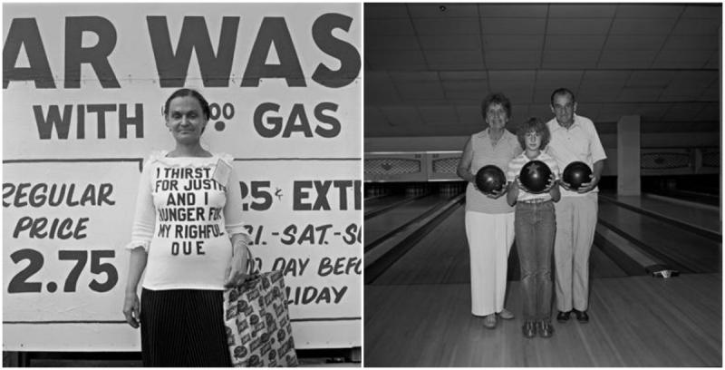 Photos by David Gremp (right) Woman, Uptown 1978/79  | Bowling Family, Scottsdale 1978/79