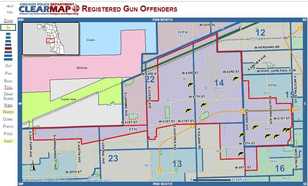 The tool allows anyone with access to a computer to look up gun offenders in their neighborhood.
