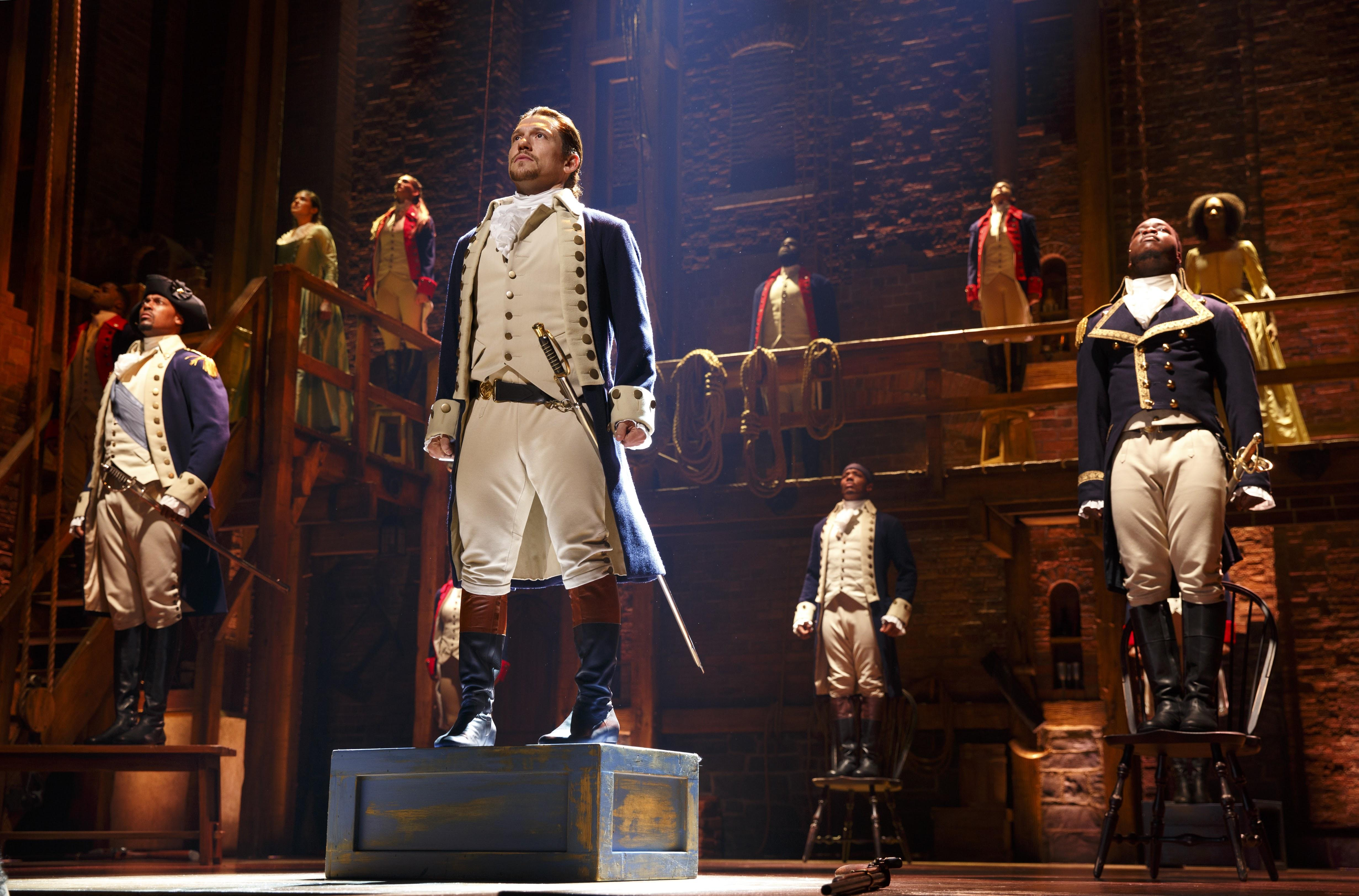 "The Chicago production of ""Hamilton"" is at the PrivateBank Theatre through Sept. 17, 2017. (Joan Marcus / Broadway in Chicago)"