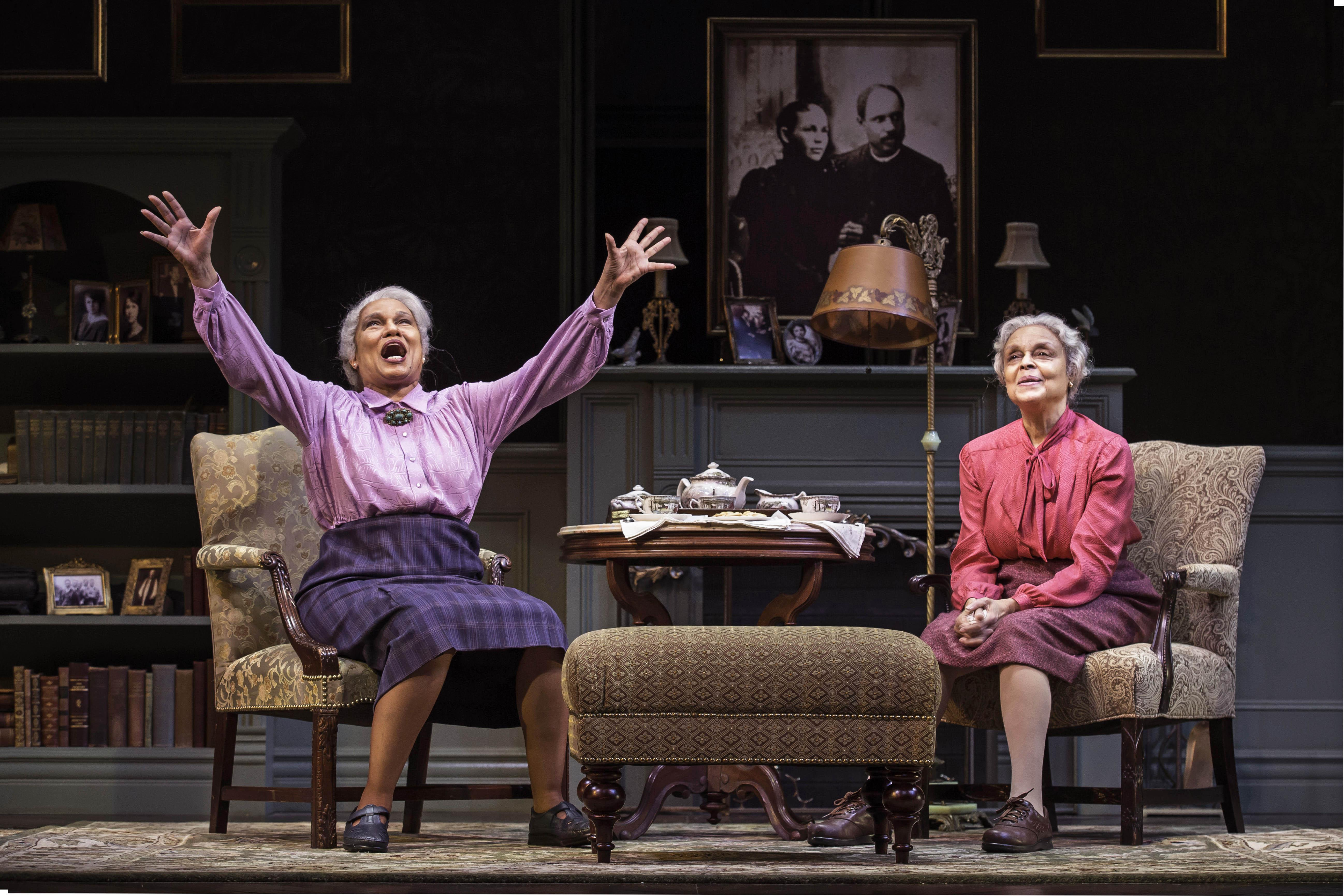 "Ella Joyce and Marie Thomas in ""Having Our Say: The Delany Sisters' First 100 Years"" at Goodman Theatre. (Photo credit: Liz Lauren)"