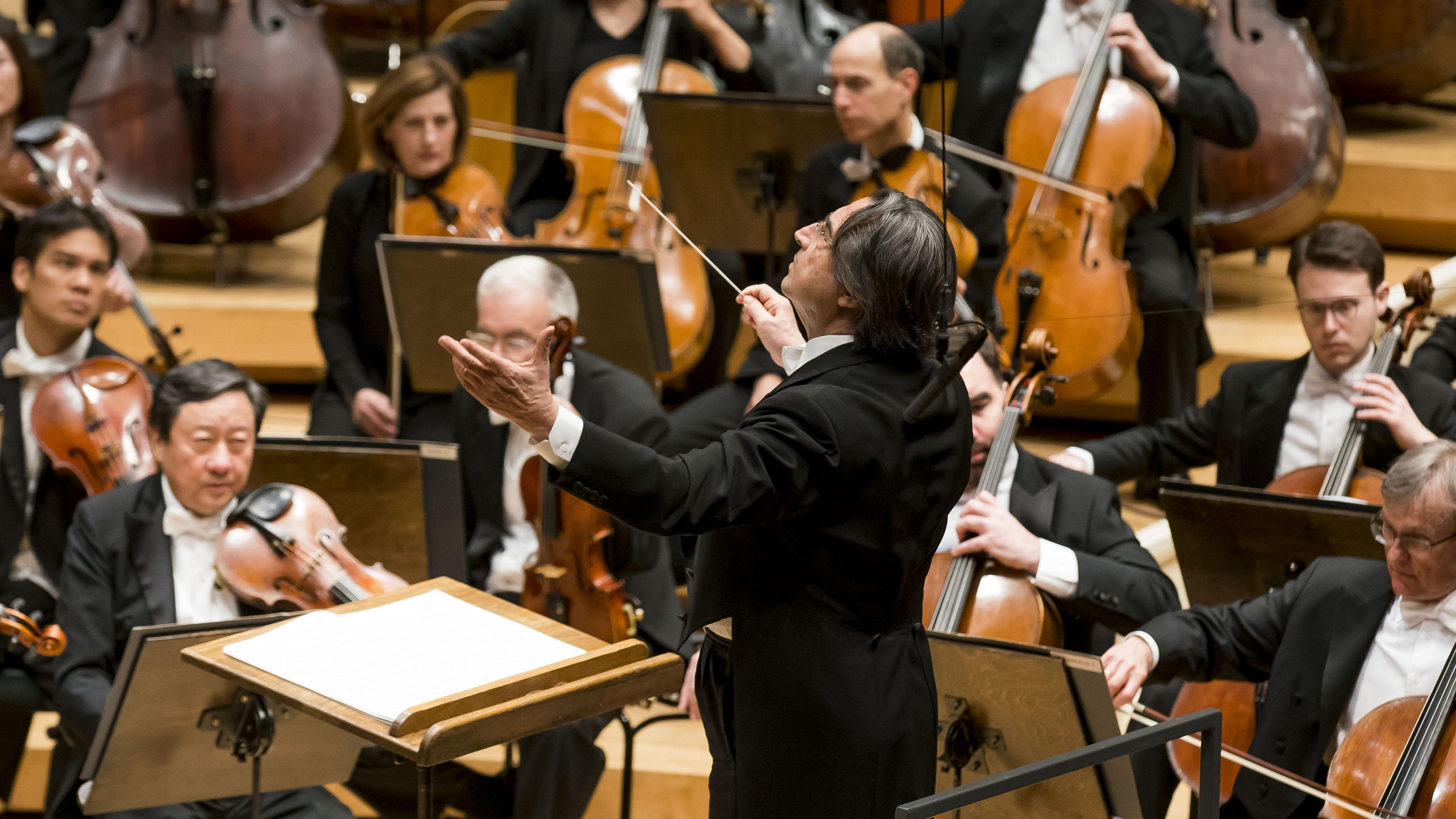 Zell Music Director Riccardo Muti leads the Chicago Symphony Orchestra in a program of works by Debussy and Tchaikovsky in the final weekend of his April residency at Symphony Center. (© Todd Rosenberg)