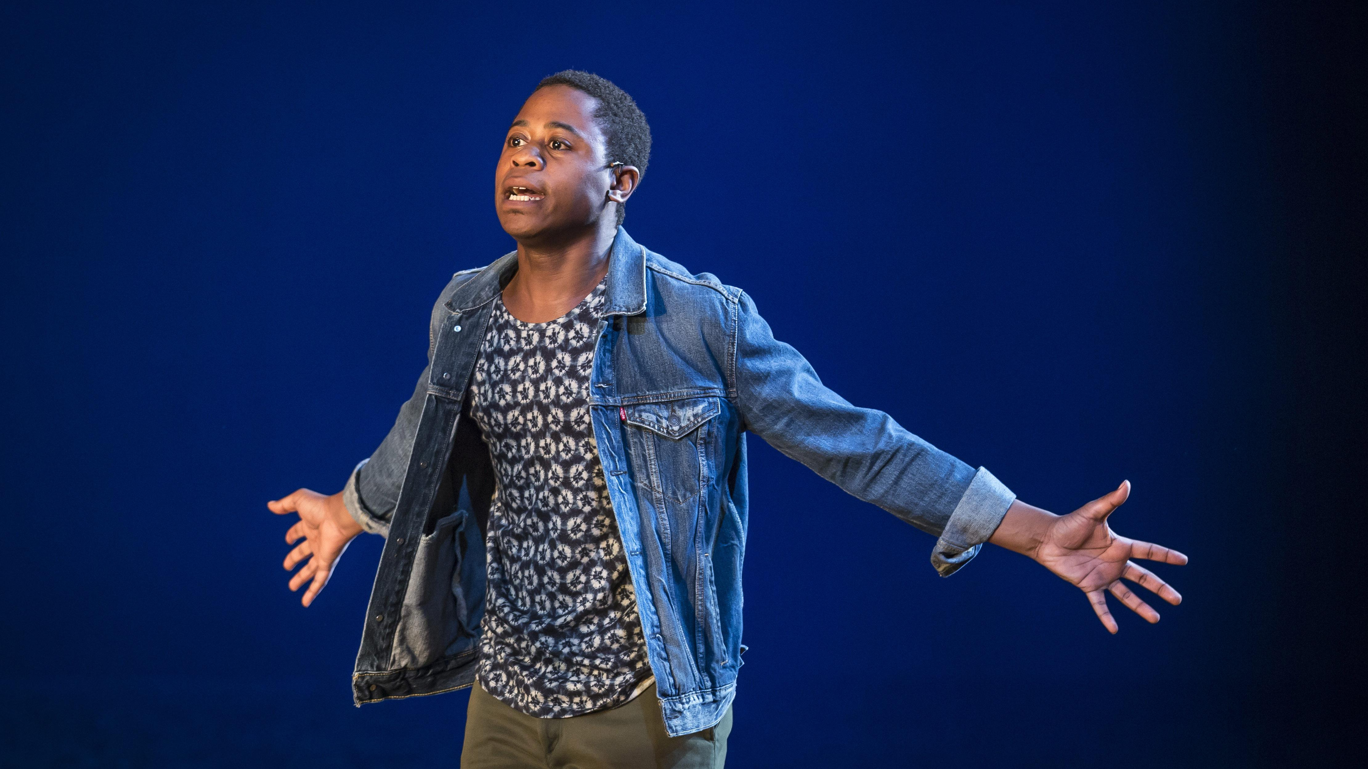 "Daniel Kyri performs in Charles Smith's ""Objects in the Mirror."" (Credit: Liz Lauren)"