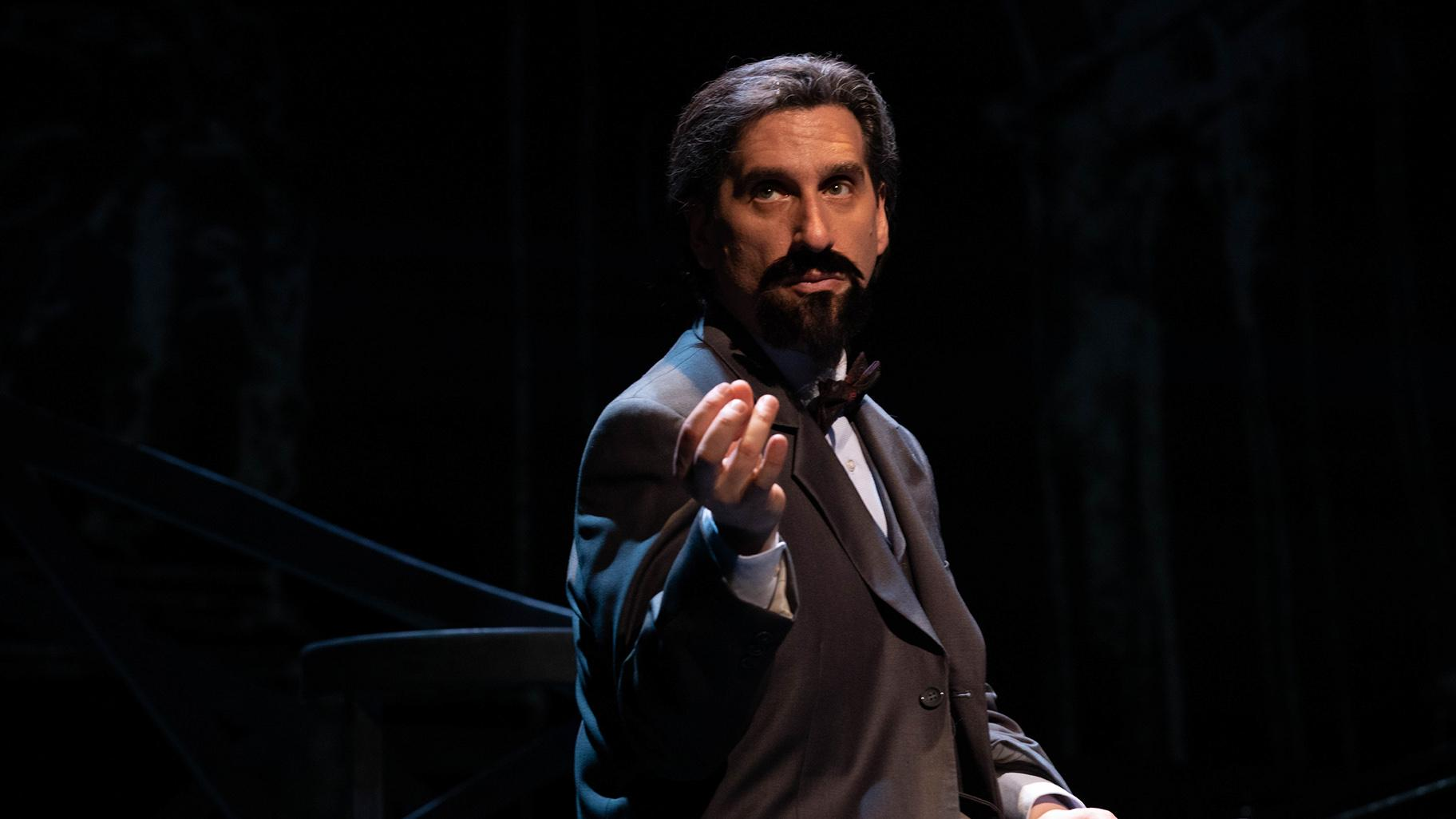 "Hershey Felder in ""A Paris Love Story"" featuring the music of Claude Debussy. (Courtesy of Christopher Ash)"