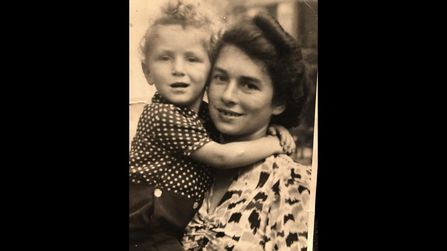 Kurt Gutfreund and his mother before they went into hiding. (Photo courtesy Kurt Gutfreund)