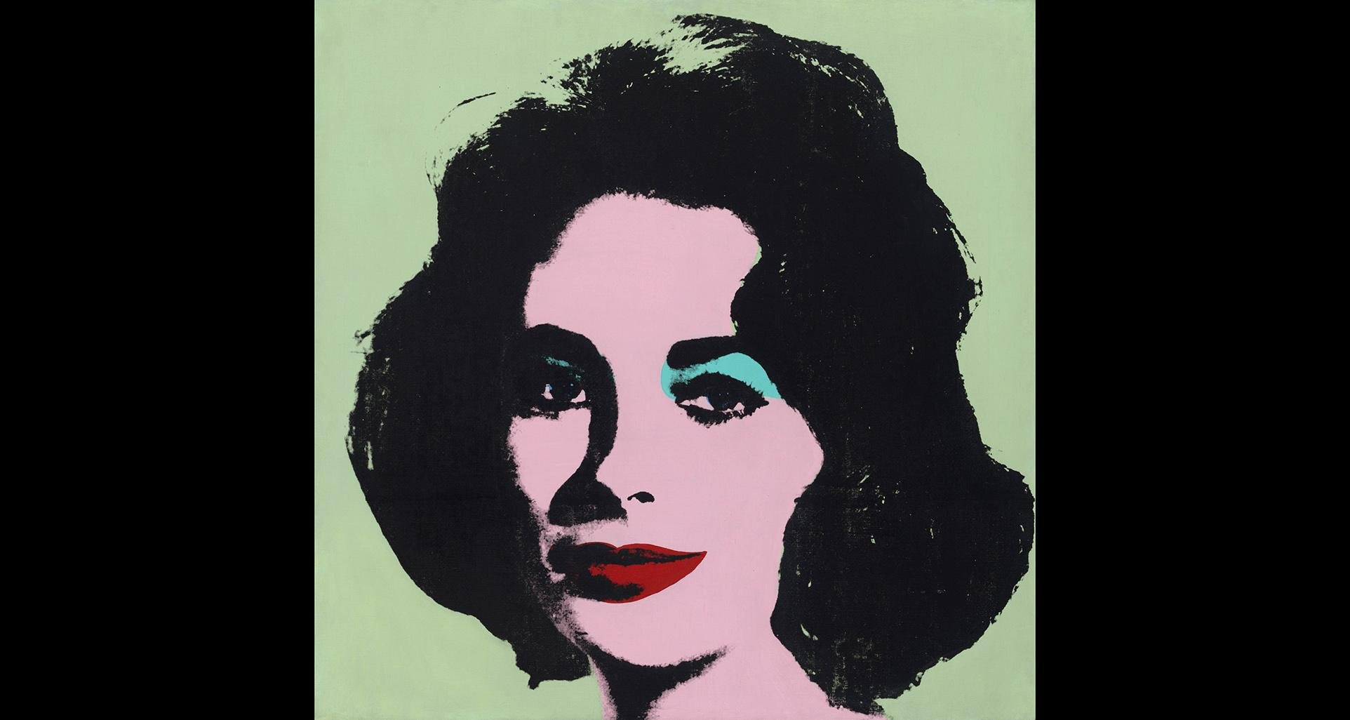 "Andy Warhol. ""Liz #3, [Early Colored Liz],"" 1963. The Stefan T. Edlis collection, partial and promised gift to the Art Institute of Chicago. © 2019 The Andy Warhol Foundation for the Visual Arts, Inc. / Artists Rights Society (ARS), New York."