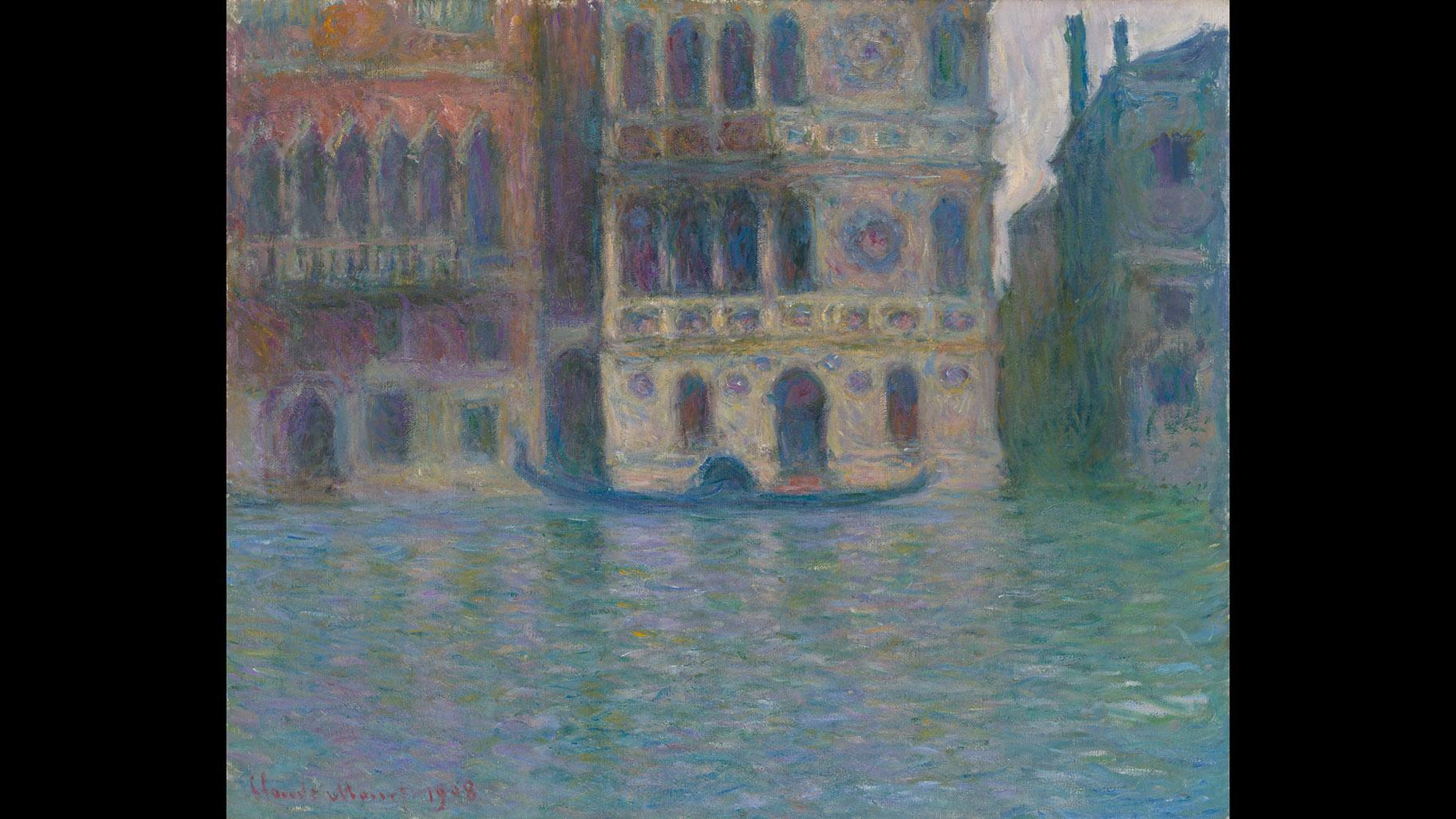 Claude Monet. Venice, Palazzo Dario, 1908. The Art Institute of Chicago, Mr. and Mrs. Lewis Larned Coburn Memorial Collection.