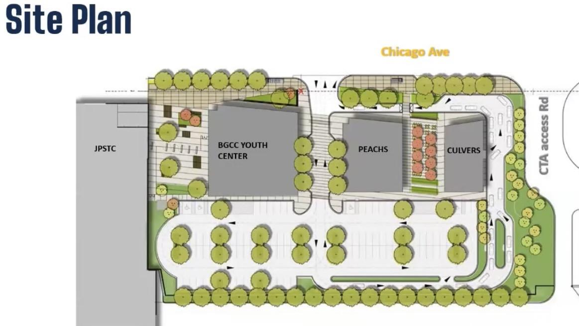 The site plan for the new police and fire training facility. [Credit: City of Chicago]