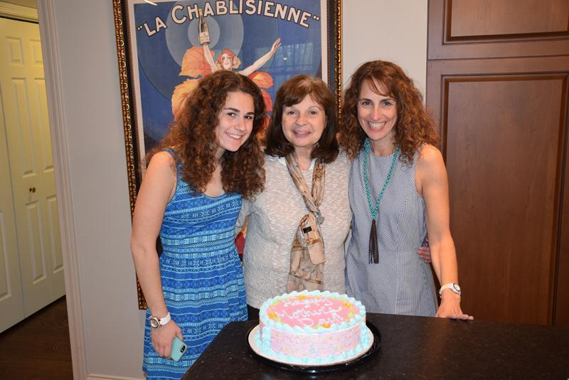 Eden Jacoby (left to right), Rosalyn Grossman and Elaine Grossman Jacoby on Mother's Day. (Courtesy of Elaine Jacoby)
