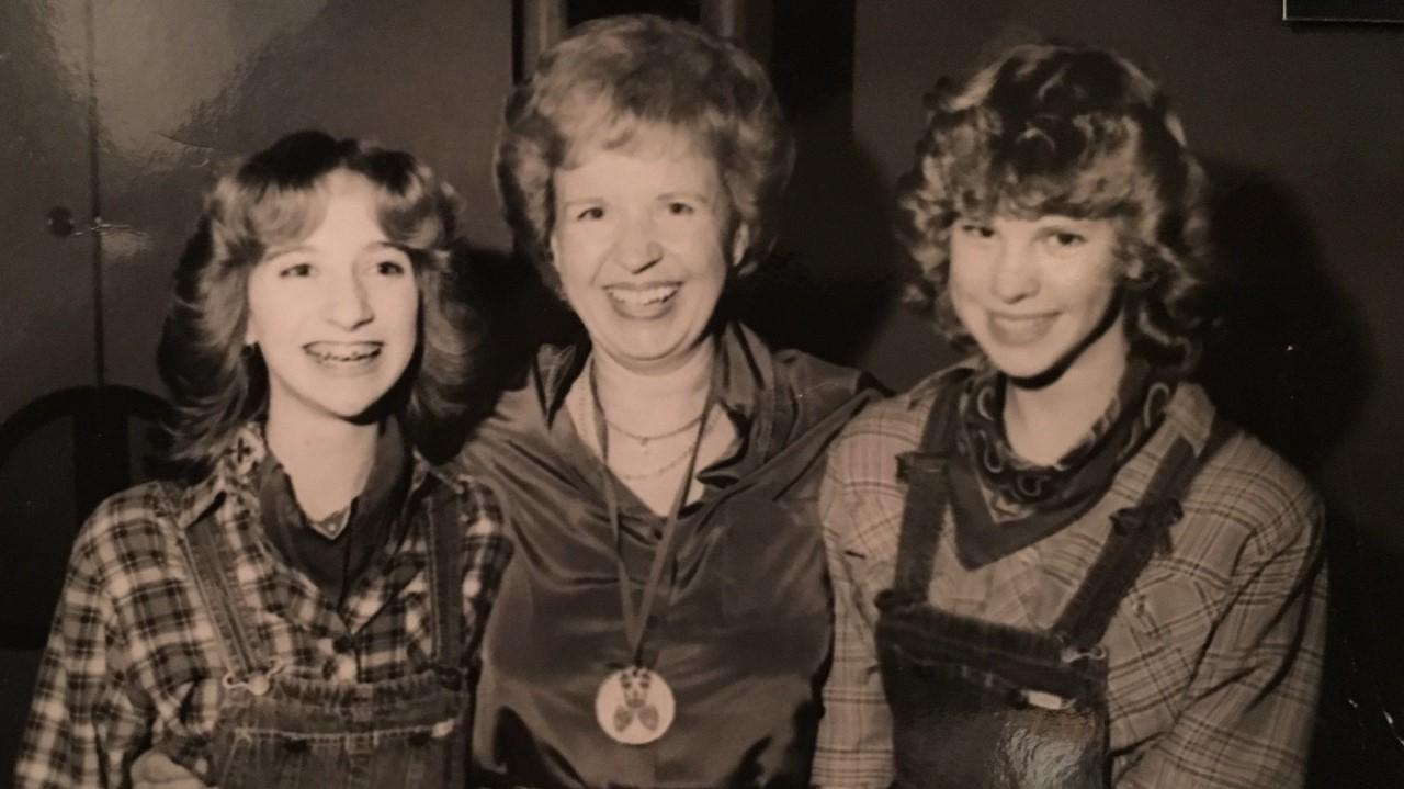 Gisela Brandt, left, and Lisa Bucks met 35 years ago. Center: Brandt's aunt, Liesel Jacoby. (Courtesy of Gisela Brandt)